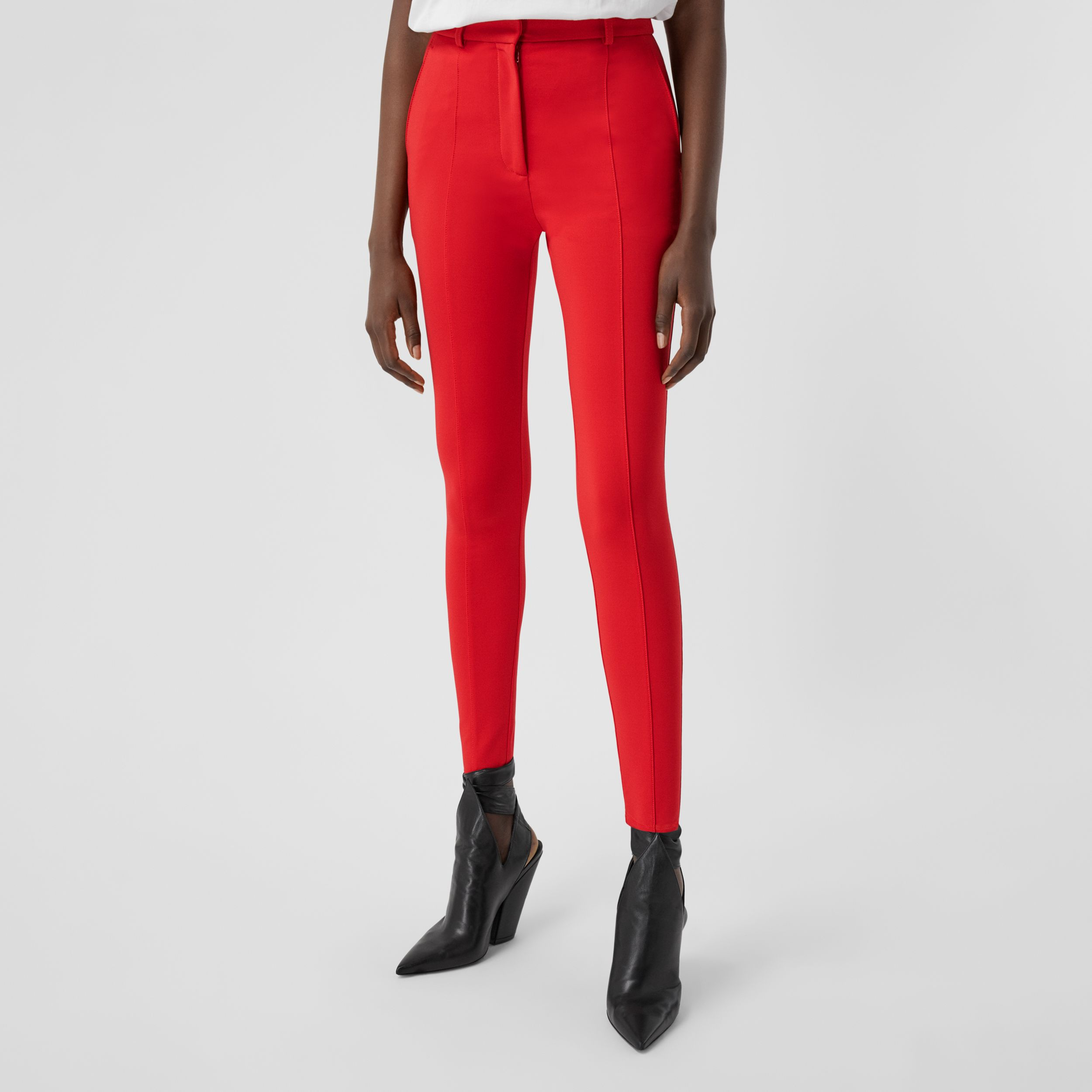 Stretch Jersey Jodhpurs in Bright Red - Women | Burberry - 4
