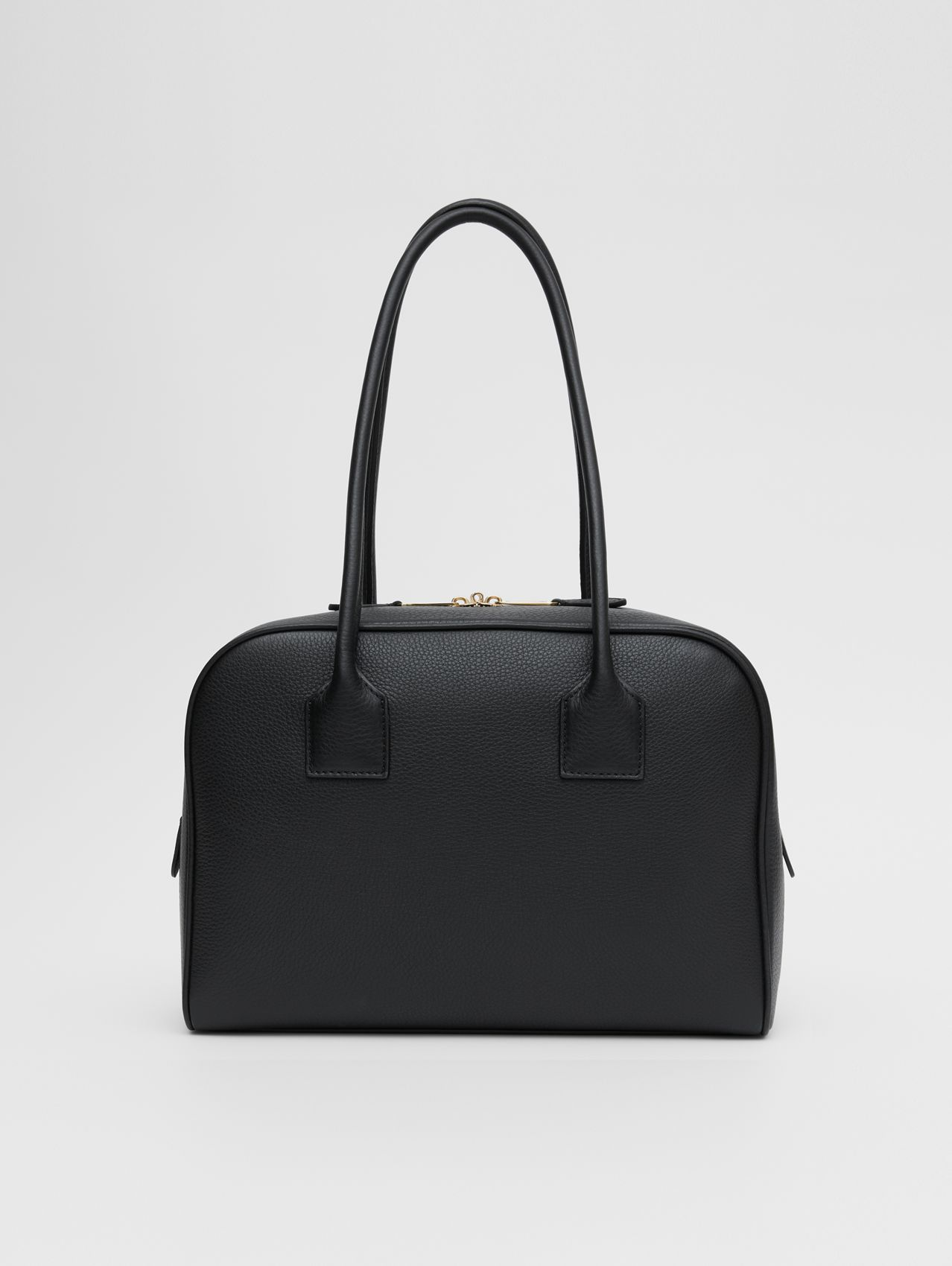Medium Leather Half Cube Bag in Black