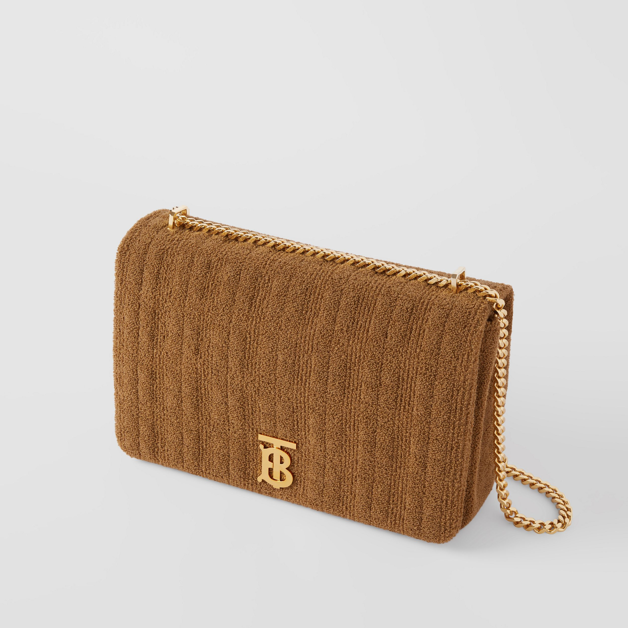 Extra Large Quilted Towelling Lola Bag in Camel - Women | Burberry - 4