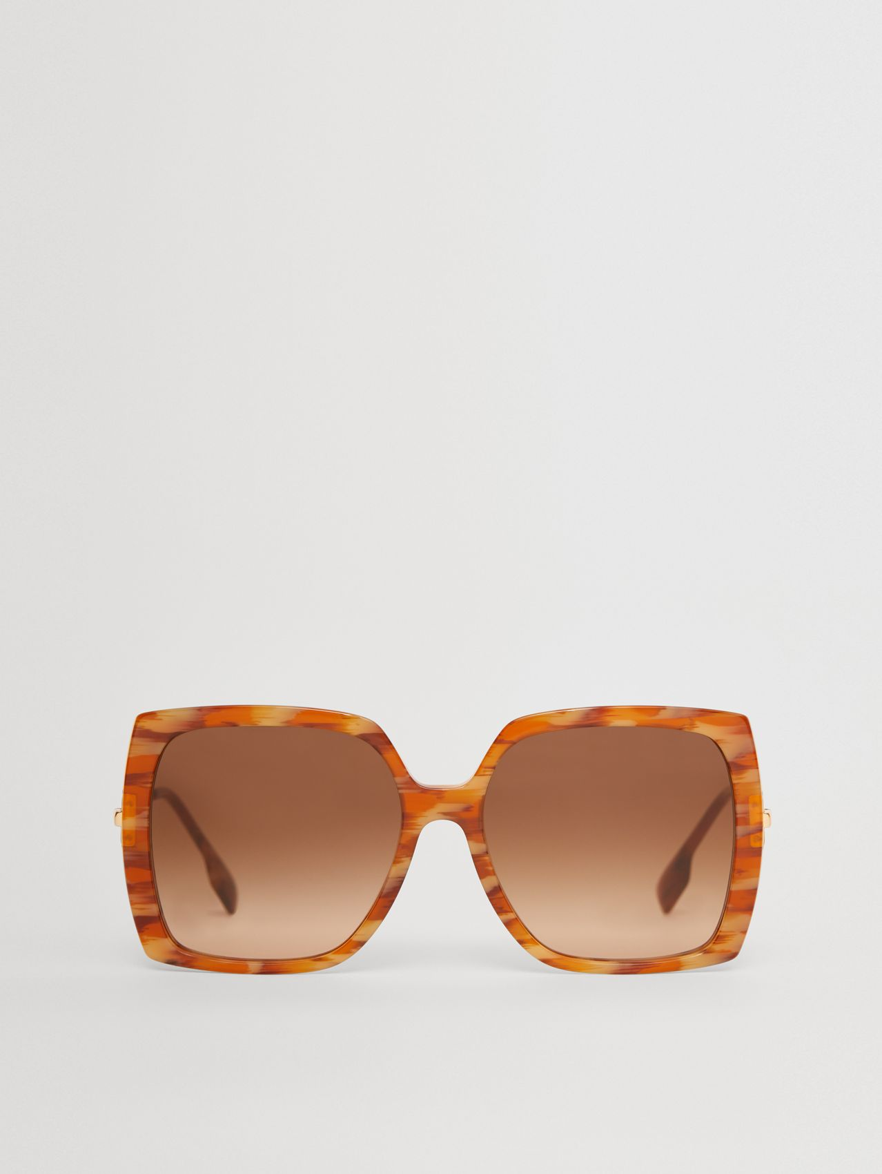 Chain-link Detail Oversized Square Frame Sunglasses in Deer Print