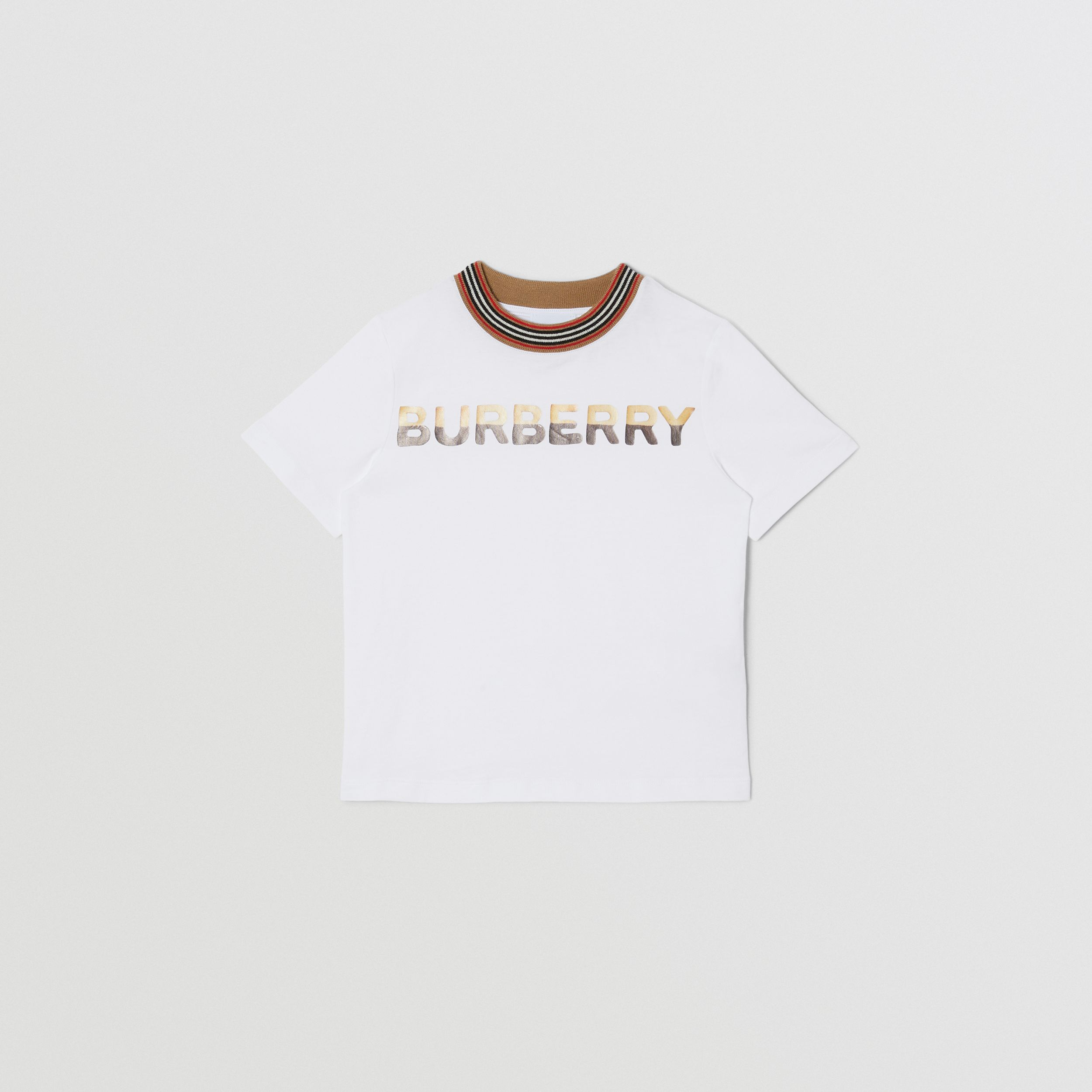 Confectionery Logo Print Cotton T-shirt in White | Burberry - 1