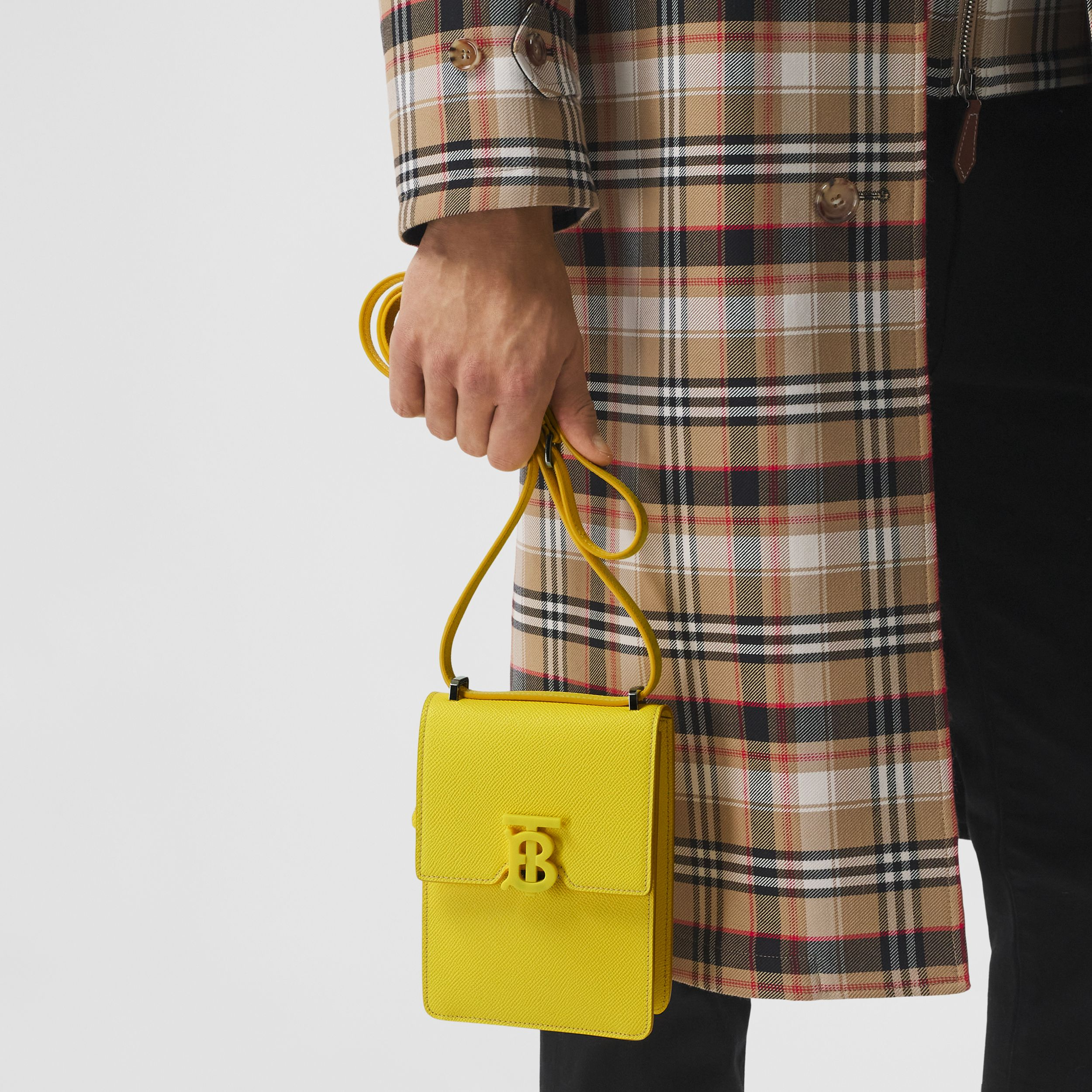 Grainy Leather Robin Bag in Marigold Yellow | Burberry - 3
