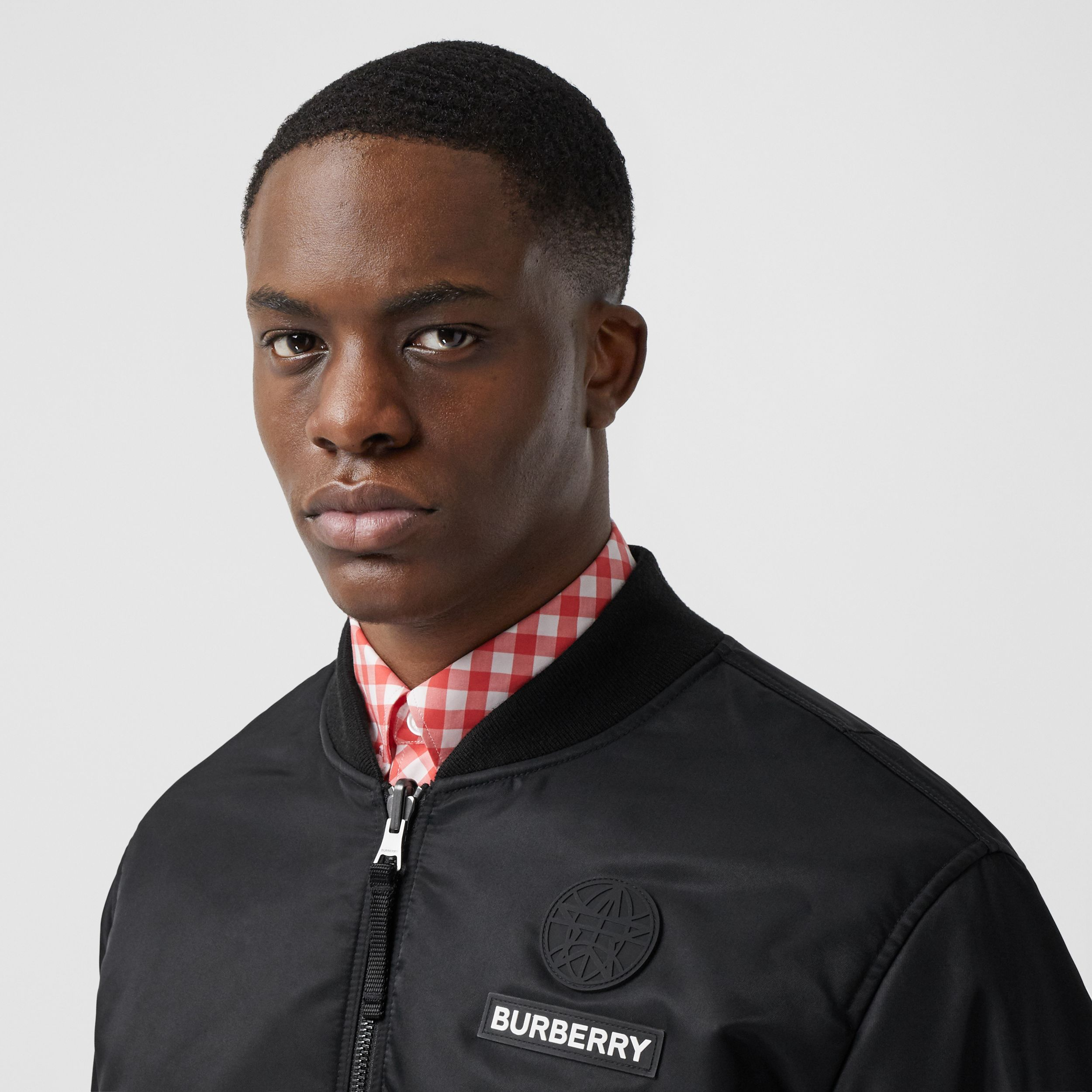 Reversible Check Bomber Jacket in Black/white - Men | Burberry - 2