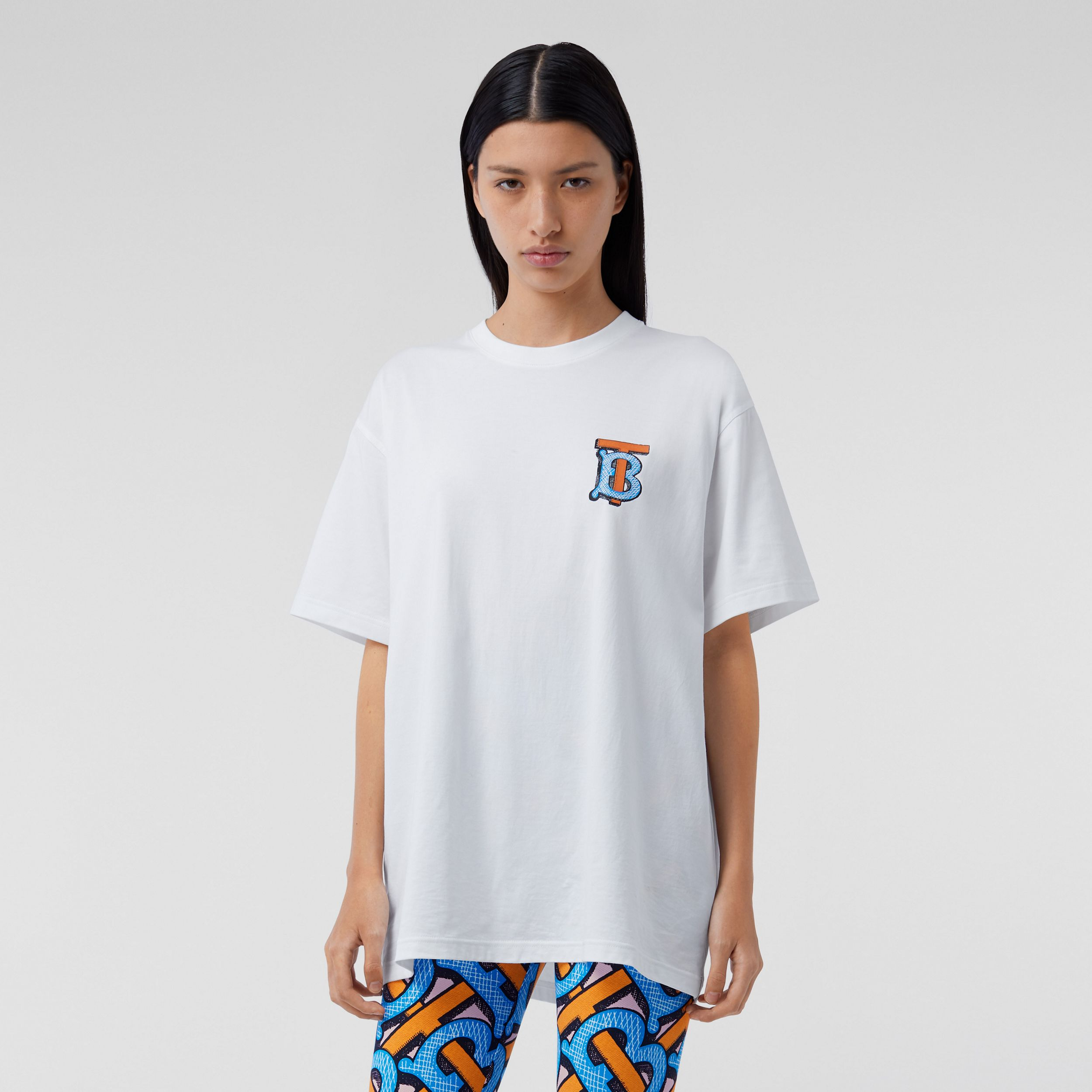 Monogram Motif Cotton T-shirt – Unisex in White | Burberry Australia - 4