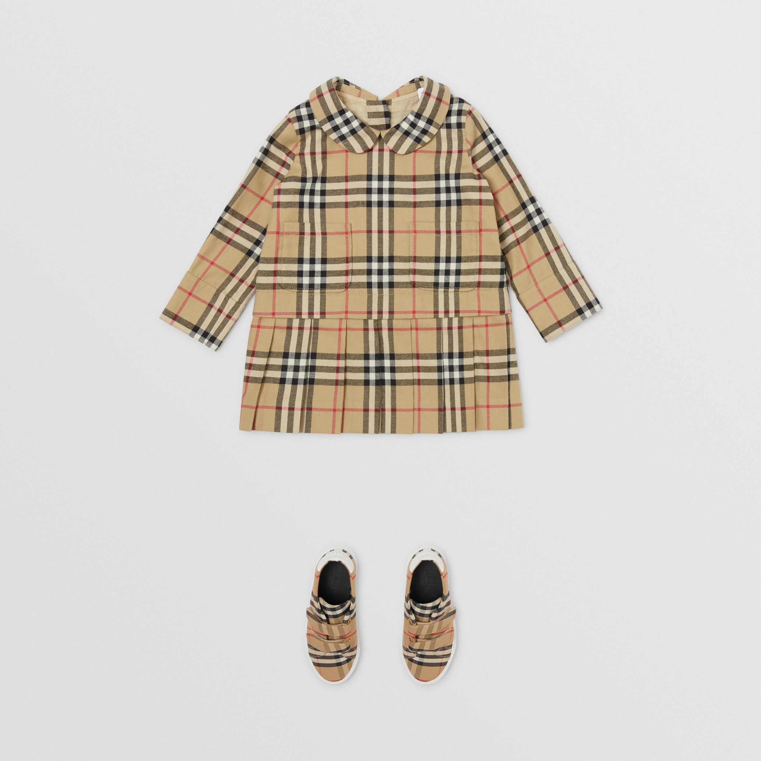 Peter Pan Collar Vintage Check Cotton Dress - Children | Burberry - 3