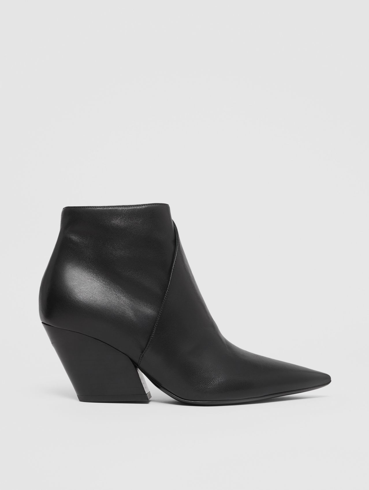 Bottines en cuir in Noir