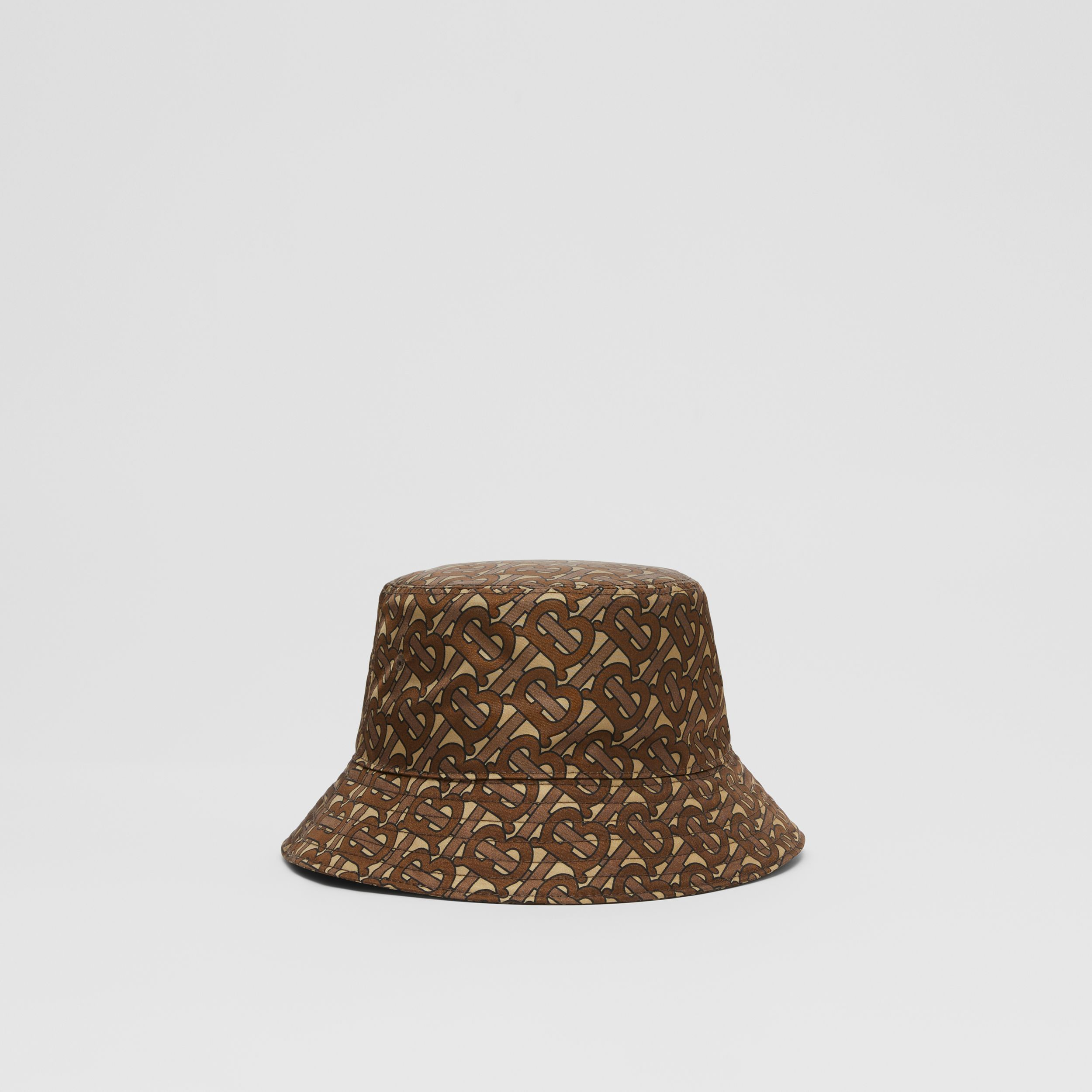 Monogram Print ECONYL® Bucket Hat in Bridle Brown | Burberry United Kingdom - 3