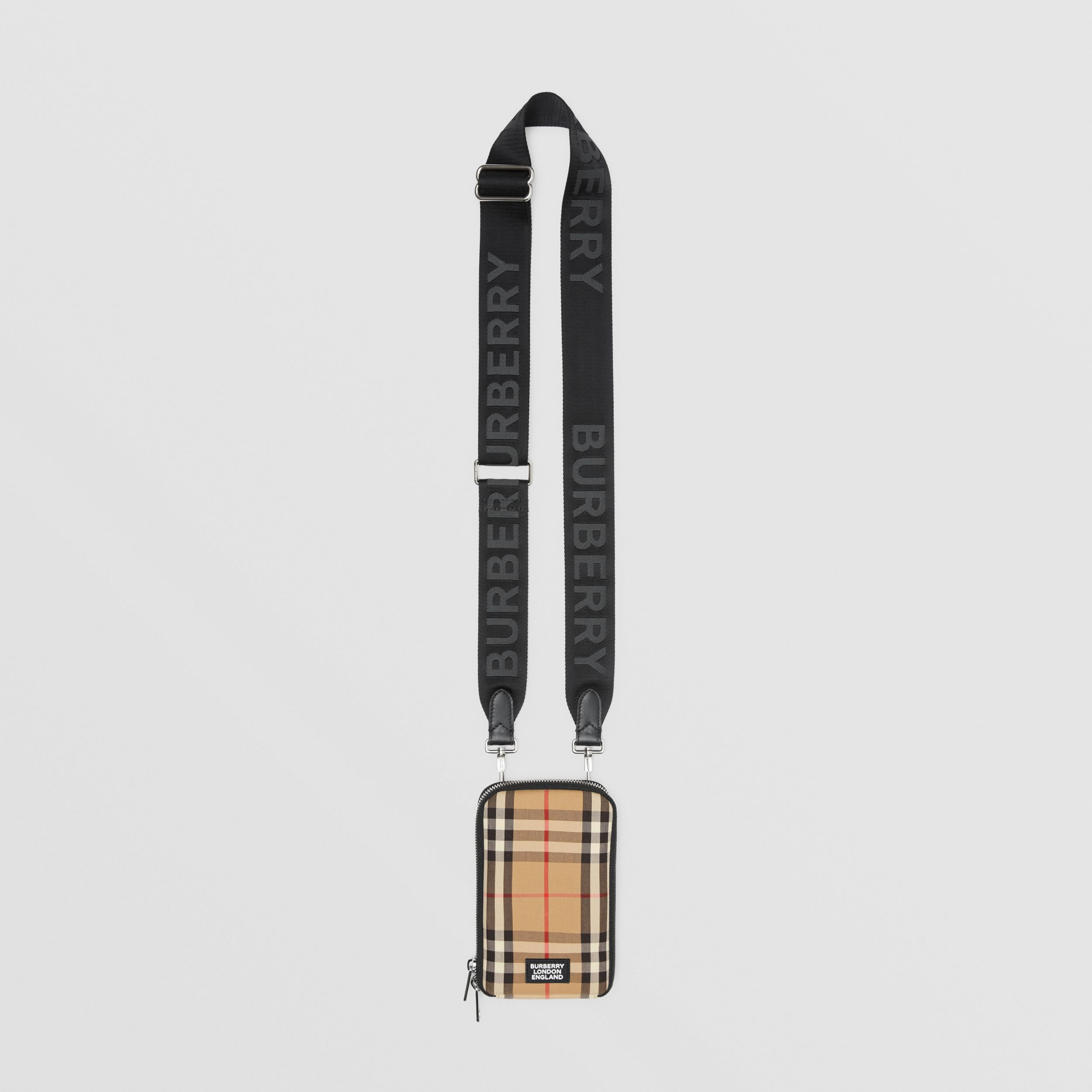 Vintage Check Phone Case with Detachable Strap in Archive Beige | Burberry - 1