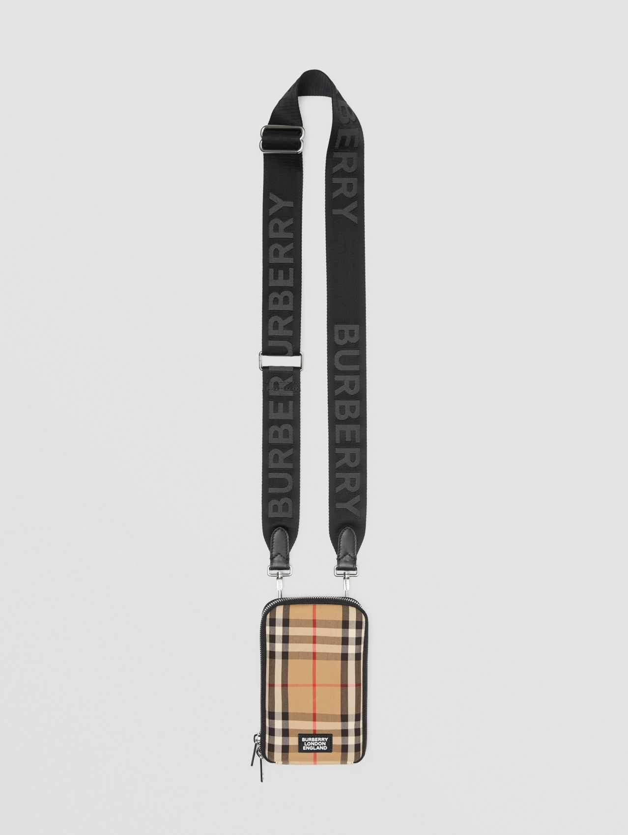 Vintage Check Phone Case with Detachable Strap (Archive Beige)