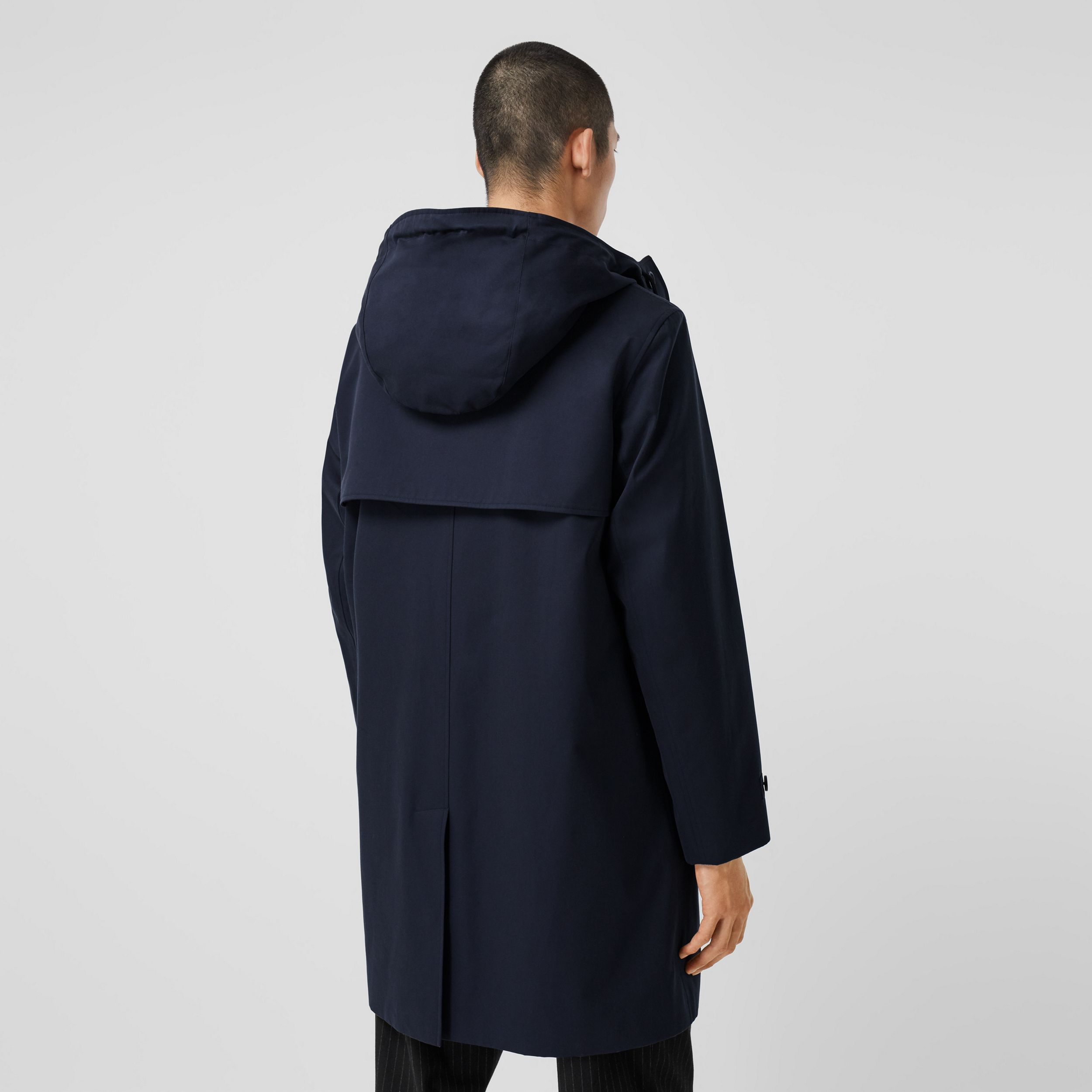 Cotton Gabardine Hooded Coat in Midnight - Men | Burberry - 3