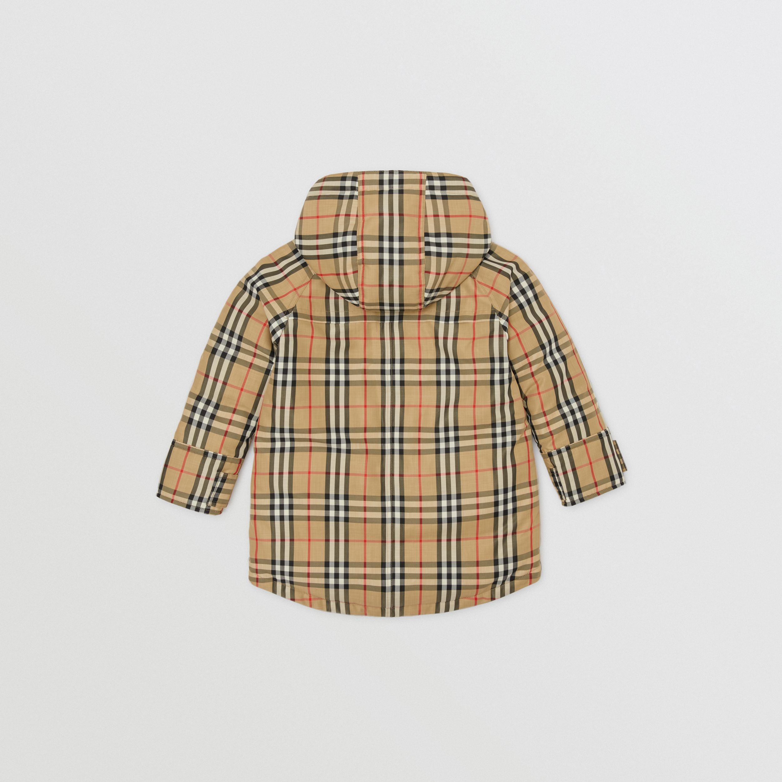 Vintage Check Down-filled Hooded Coat in Archive Beige | Burberry - 4