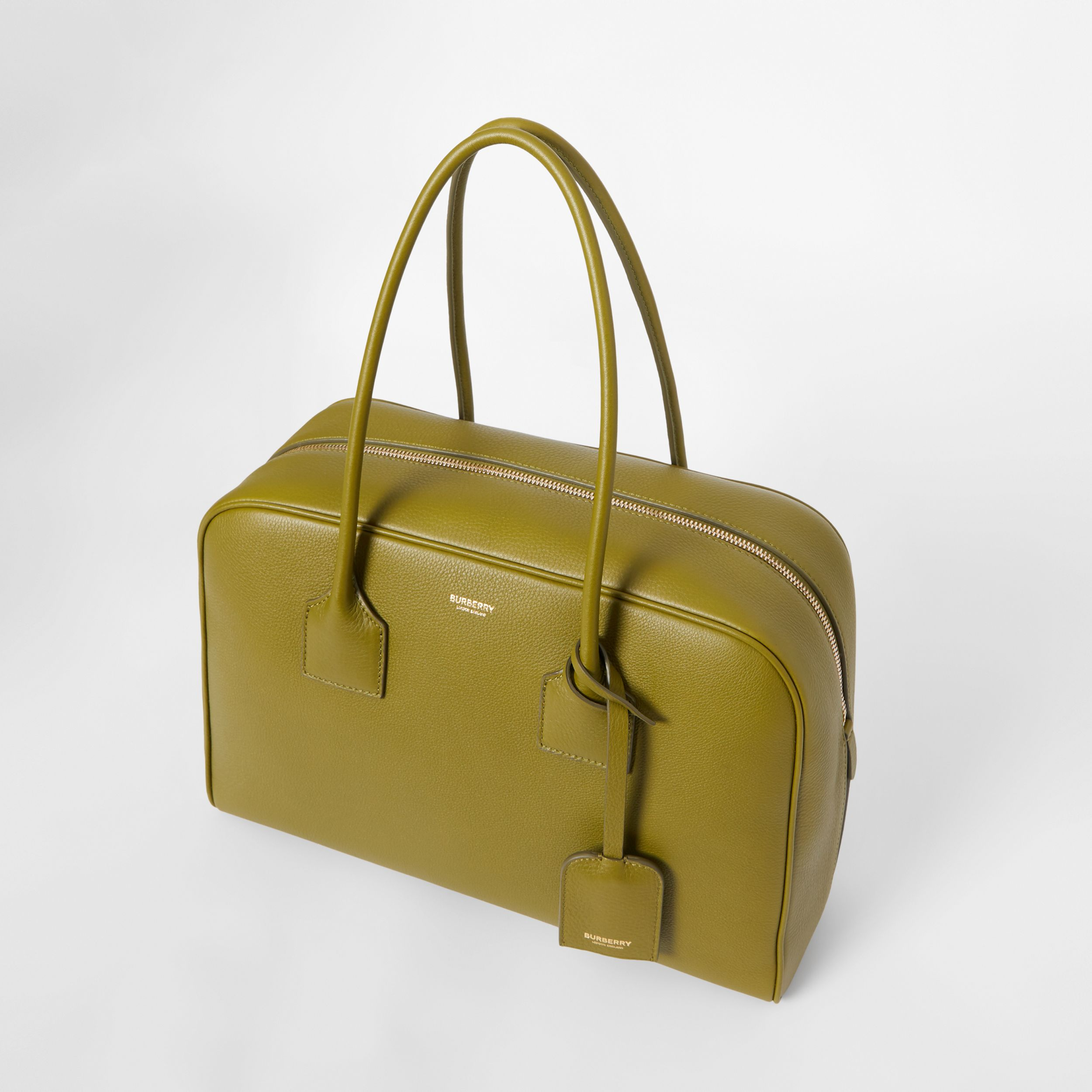 Large Leather Half Cube Bag in Juniper Green - Women | Burberry - 4