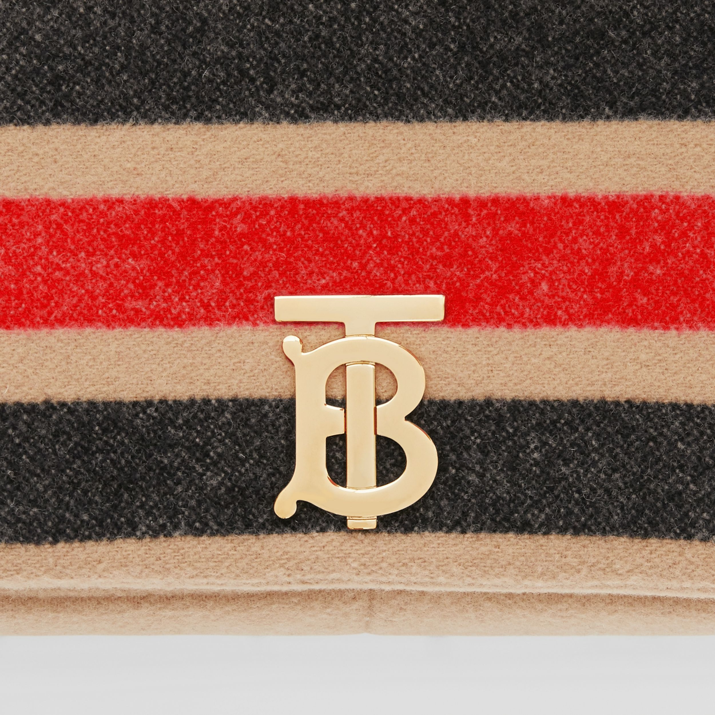 Small Striped Wool Lola Bag in Light Camel - Women | Burberry United Kingdom - 2