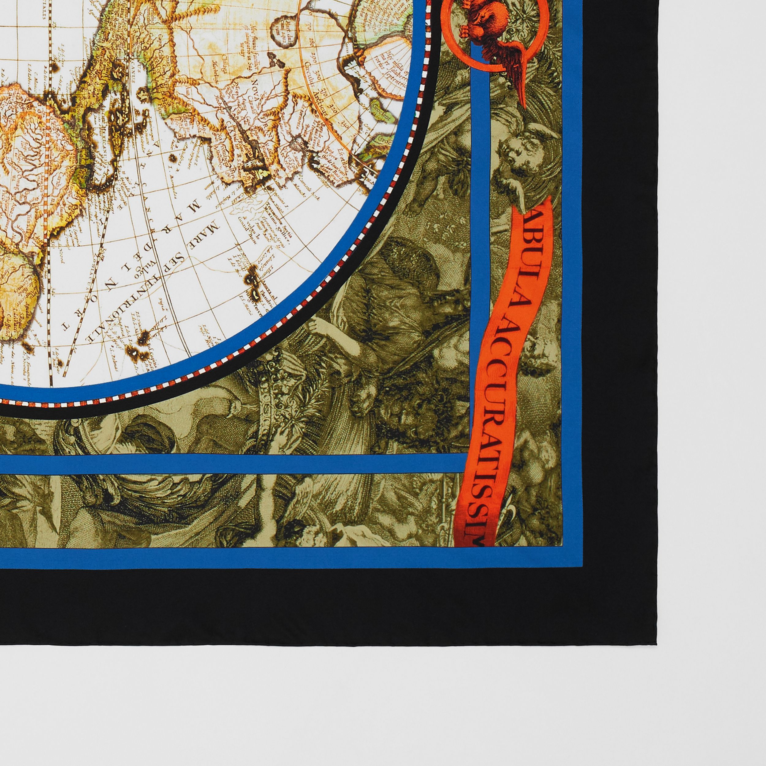 Map Print Silk Square Scarf in Multicolour | Burberry - 2