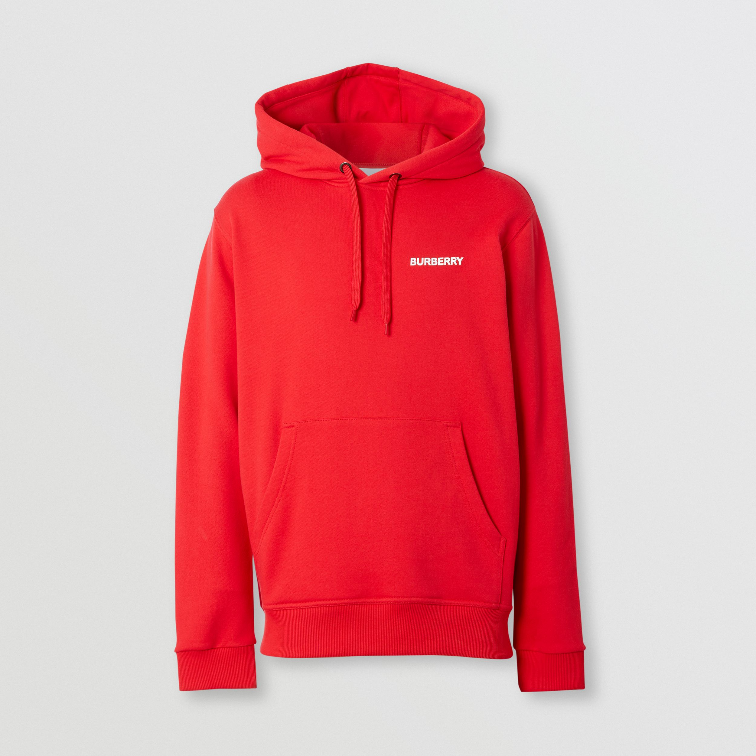 Montage Print Cotton Hoodie – Unisex in Bright Red | Burberry Australia - 1