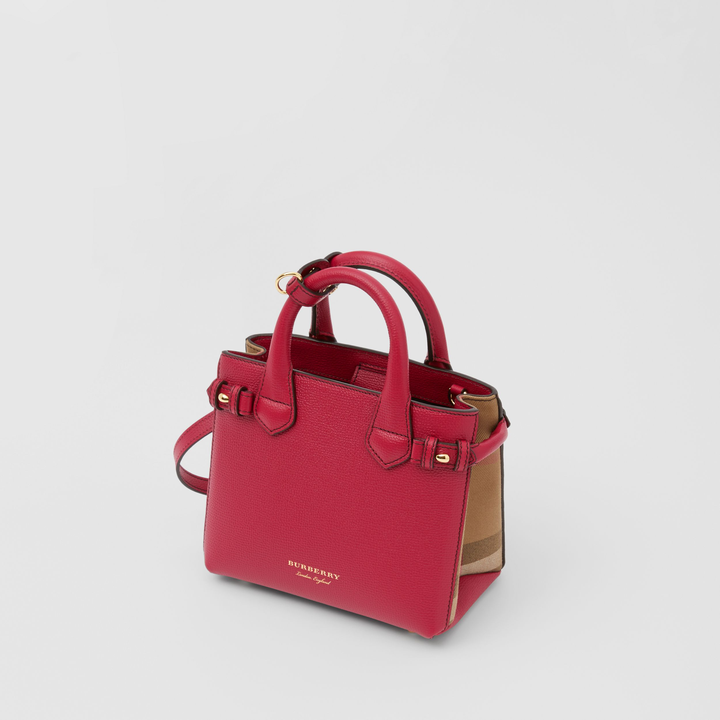 The Baby Banner in Leather and House Check in Russet Red - Women | Burberry - 3