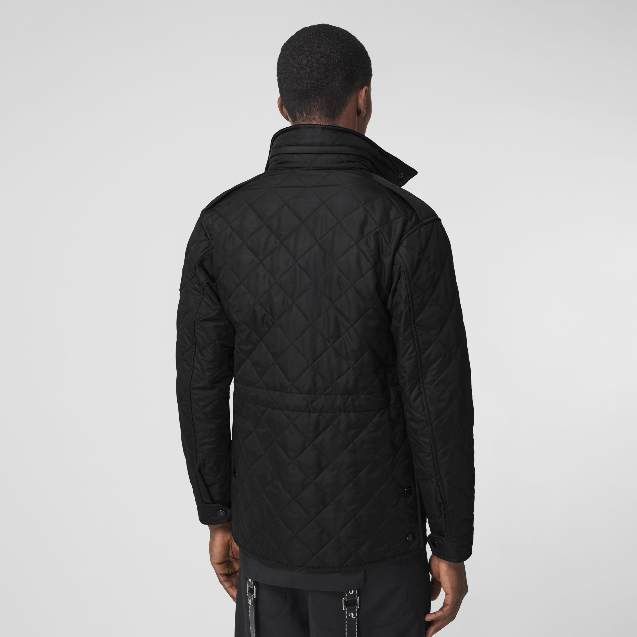 Packaway Hood Quilted Thermoregulated Field Jacket in Black - Men | Burberry - 3