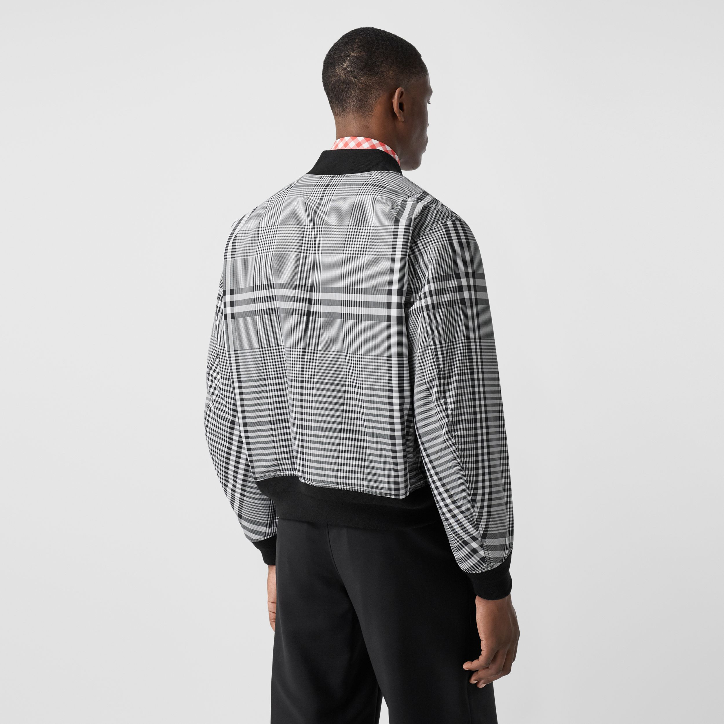 Reversible Check Bomber Jacket in Black/white - Men | Burberry - 3