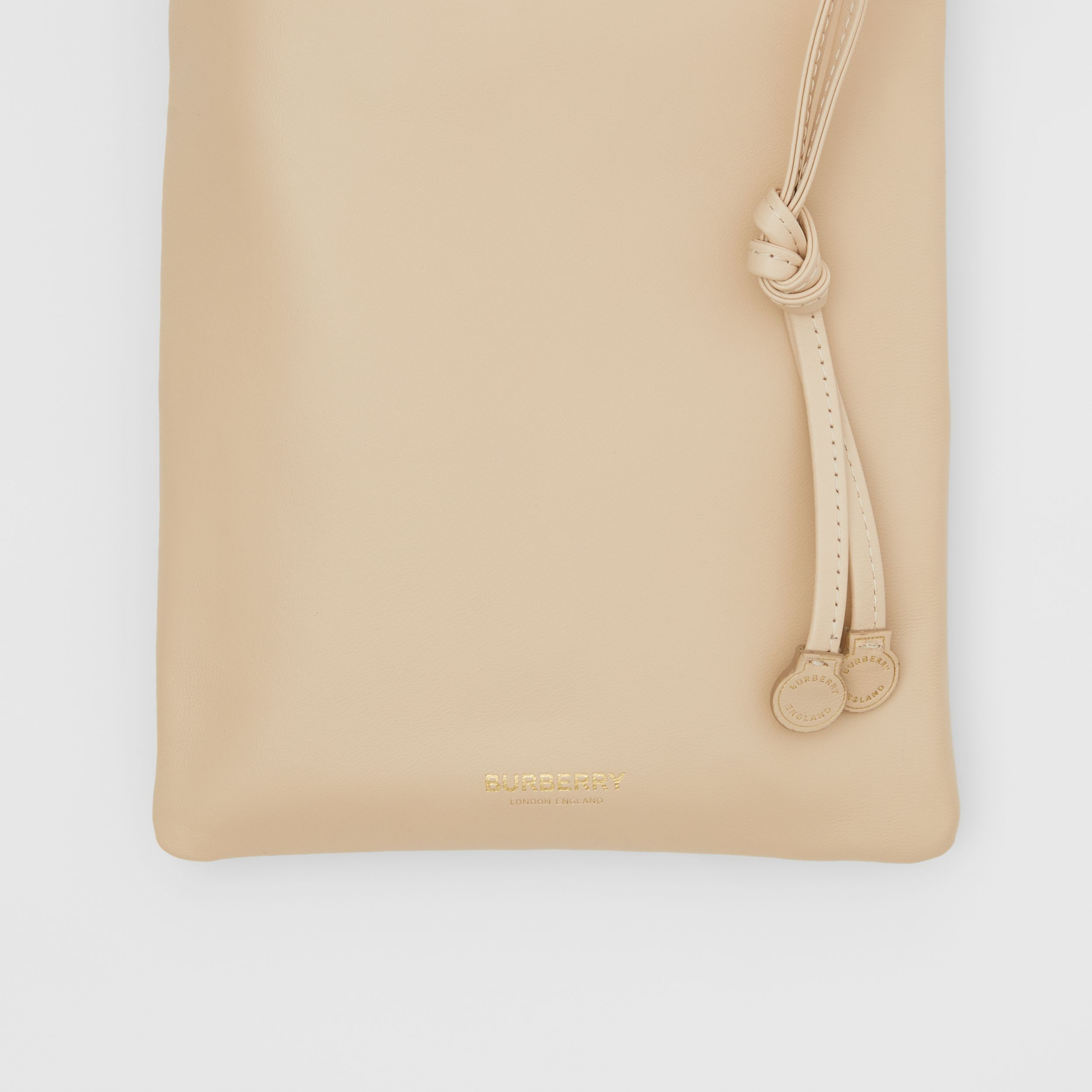Small Lambskin Drawcord Pouch in Sesame | Burberry - 2