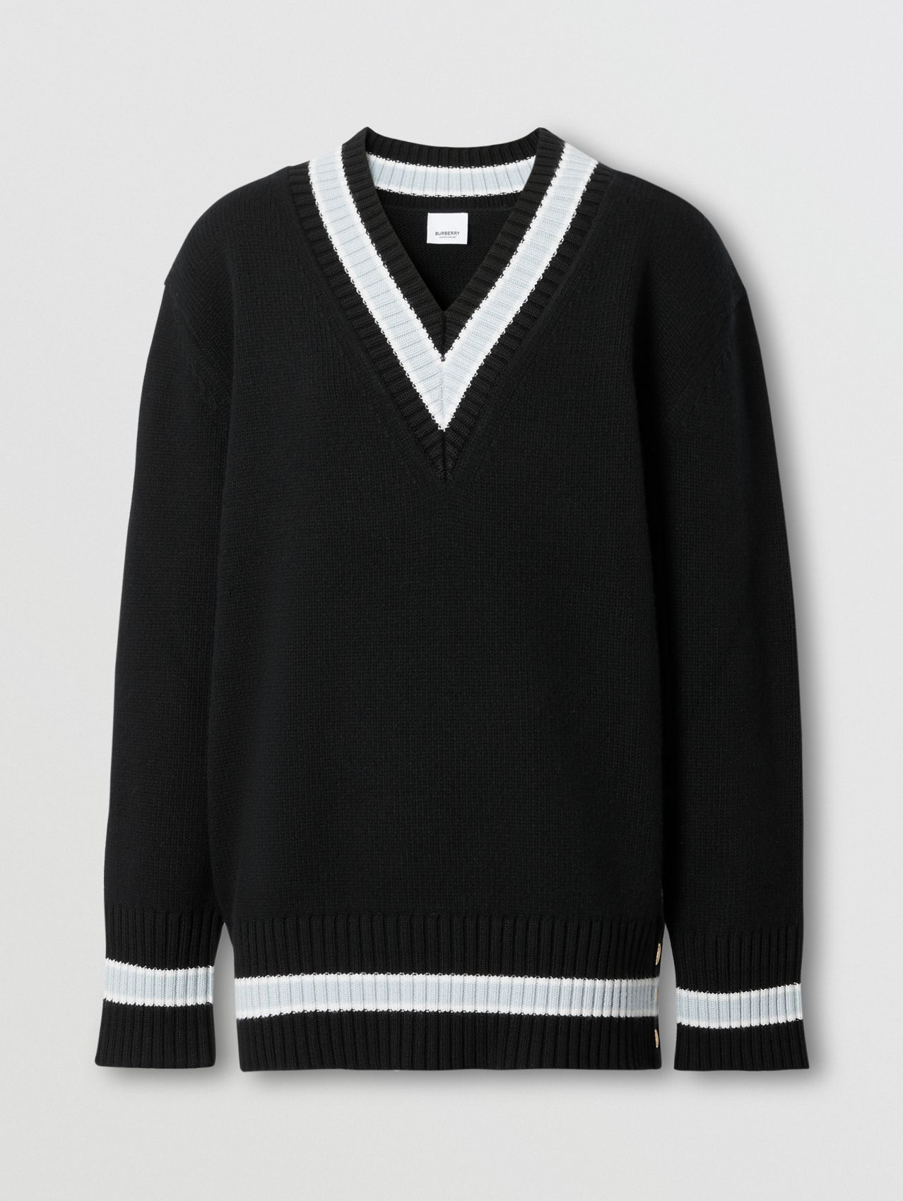 Wool Oversized Cricket Sweater in Black
