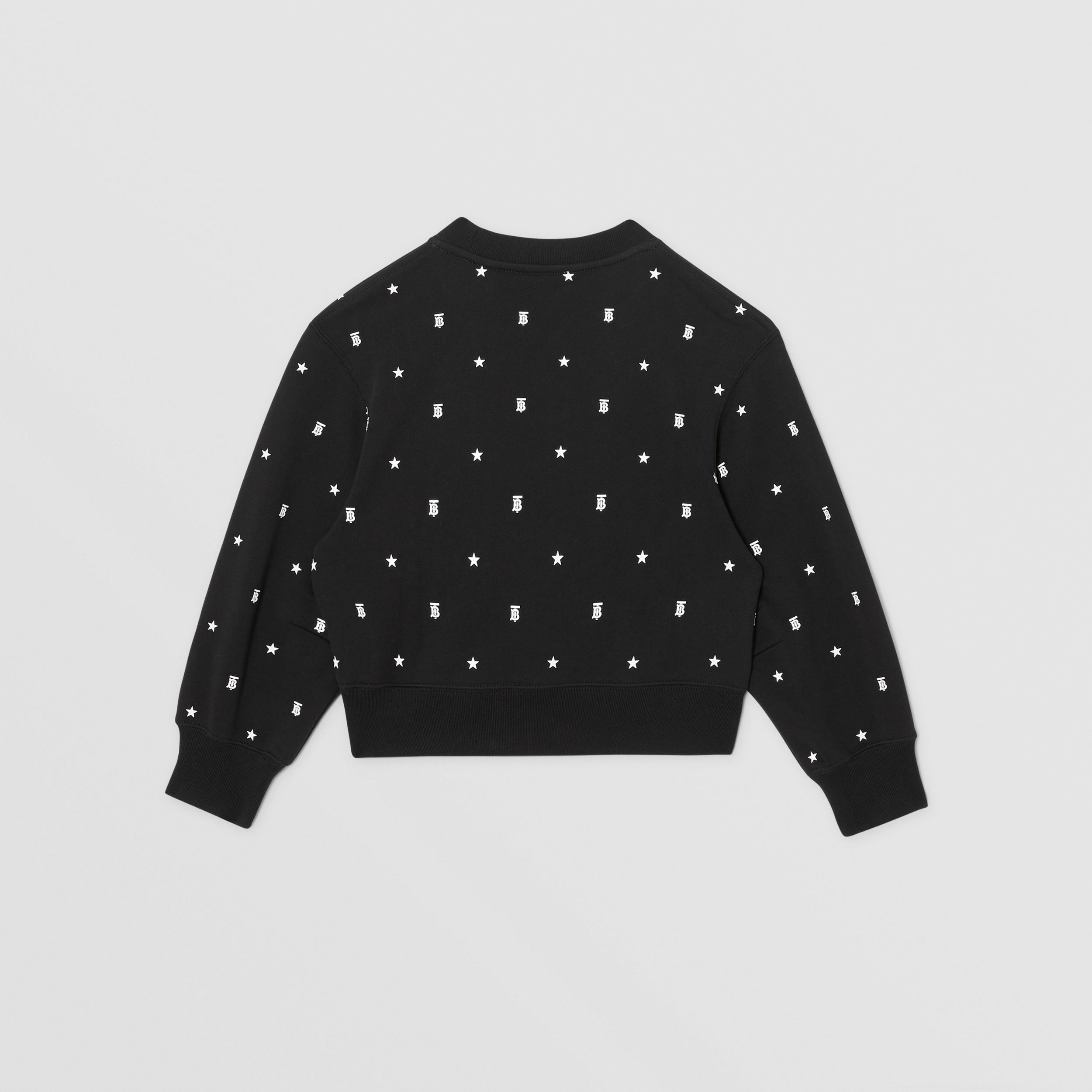 Star and Monogram Motif Cotton Sweatshirt in Black | Burberry - 3