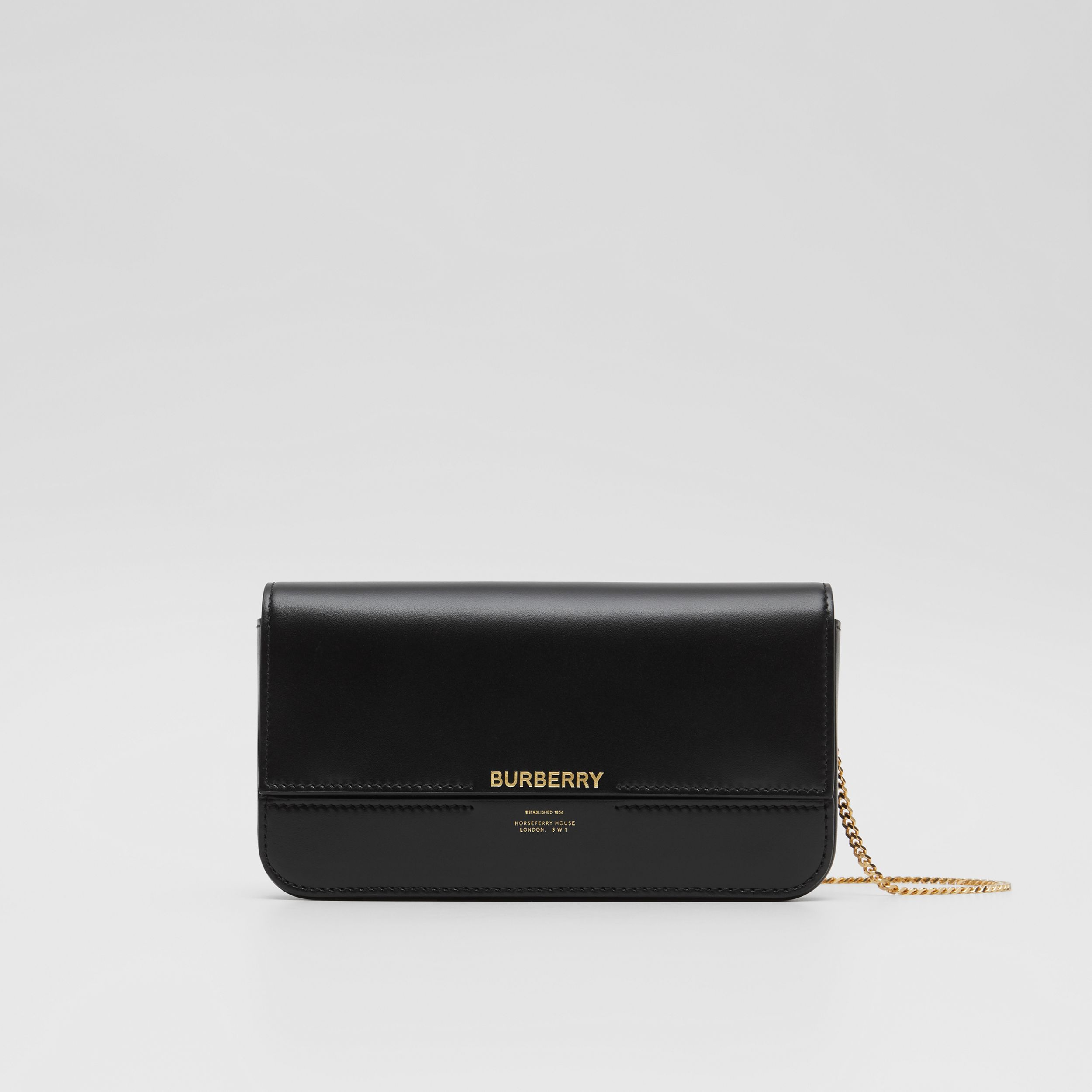 Leather Wallet with Detachable Chain Strap - Women | Burberry - 1