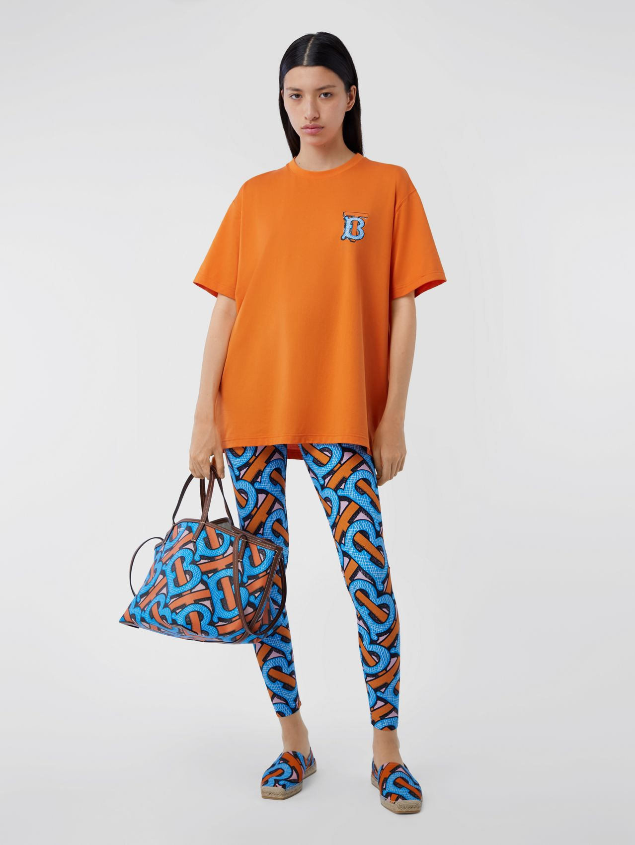 Monogram Motif Cotton T-shirt – Unisex (Bright Orange)