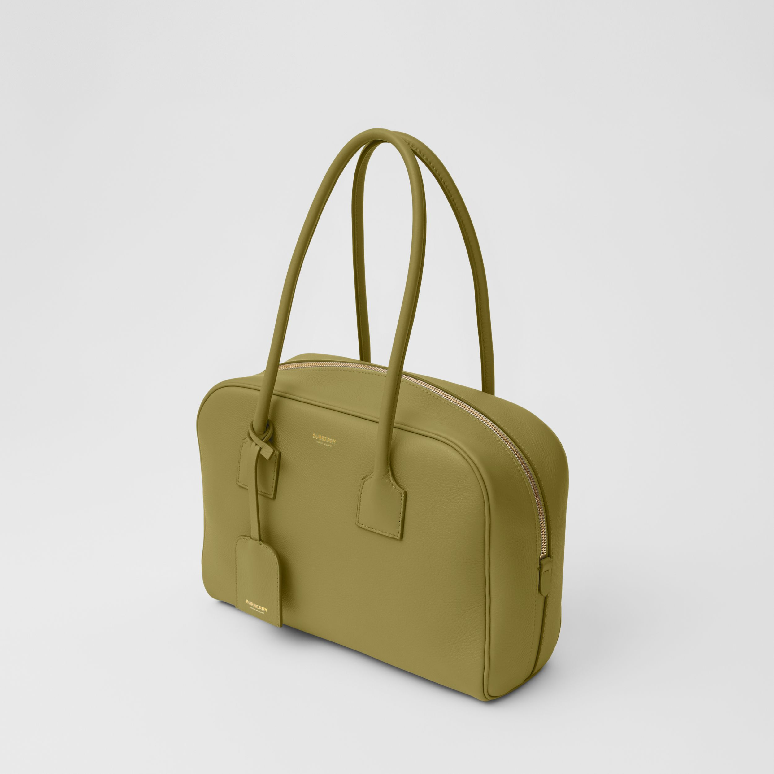 Medium Leather Half Cube Bag in Juniper Green - Women | Burberry Singapore - 4