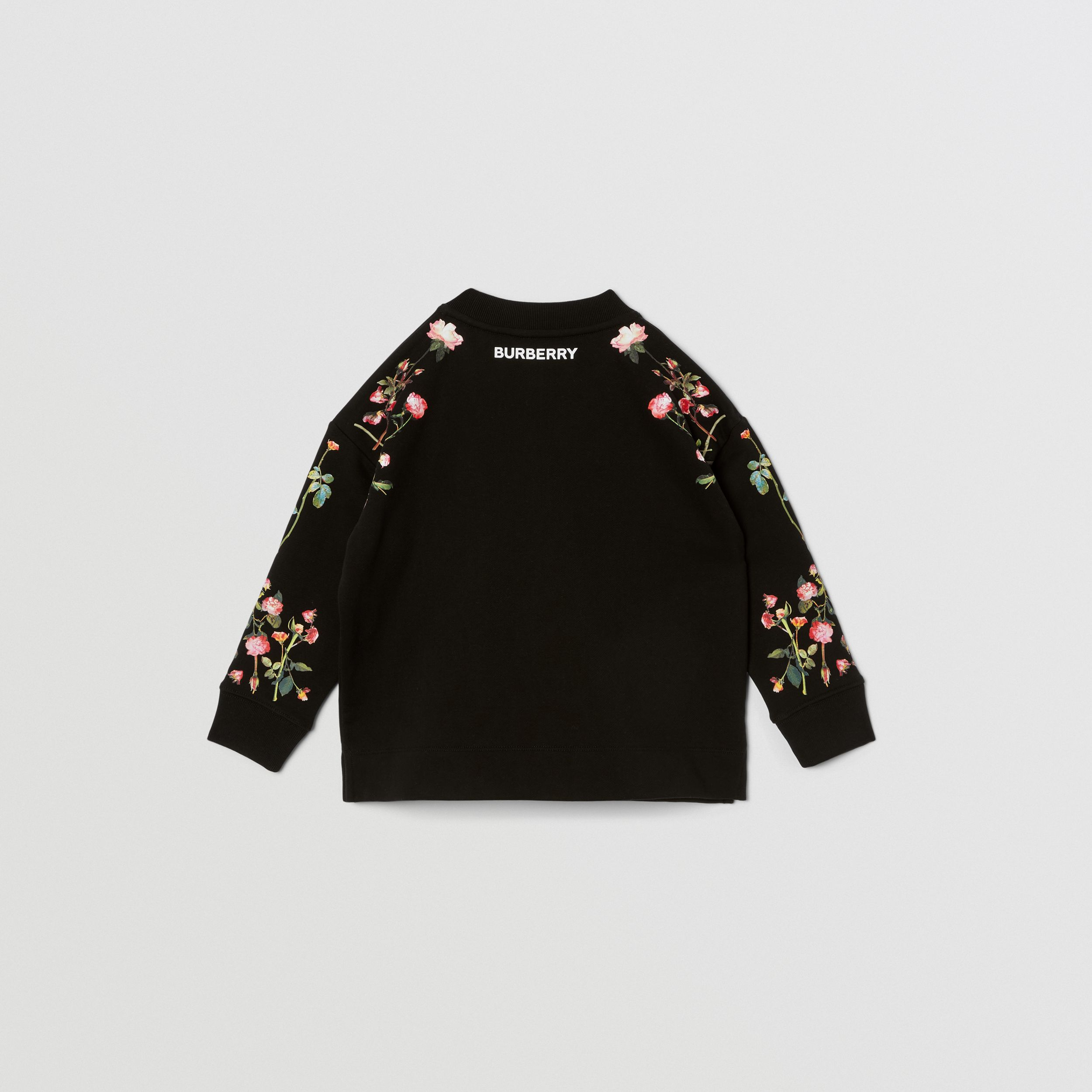 Montage Print Cotton Sweatshirt in Black | Burberry Australia - 4