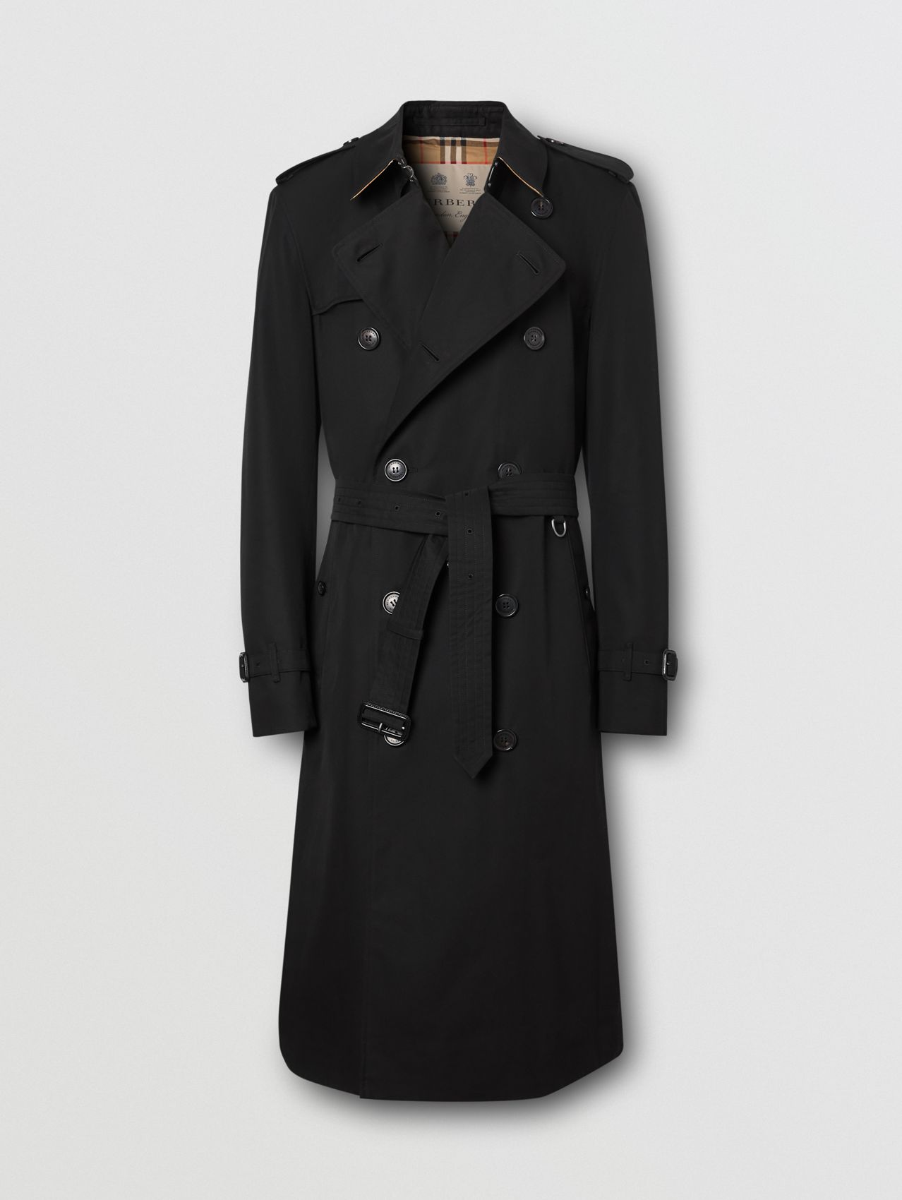 Trench coat Heritage Chelsea largo (Negro)