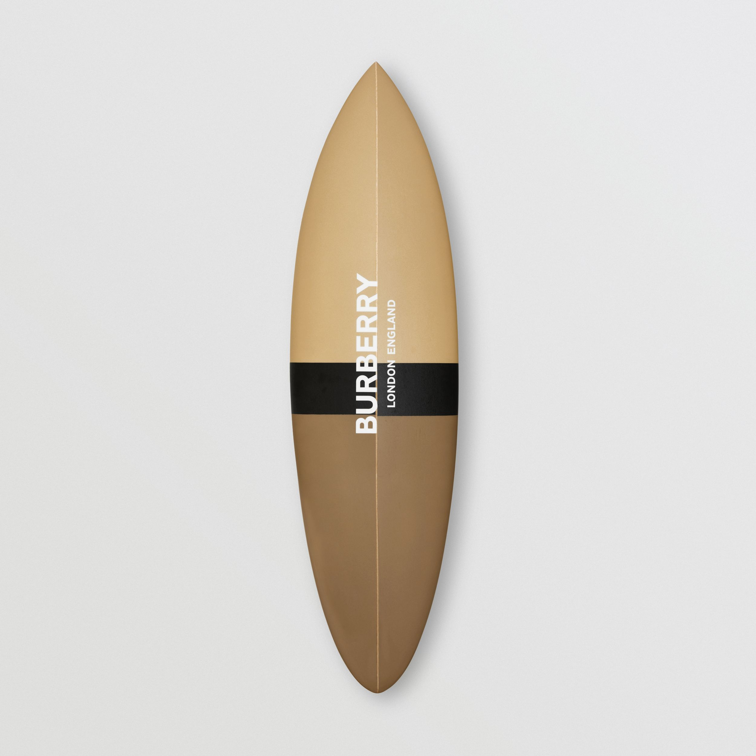 Monogram Print Surfboard in Dark Beige | Burberry - 1
