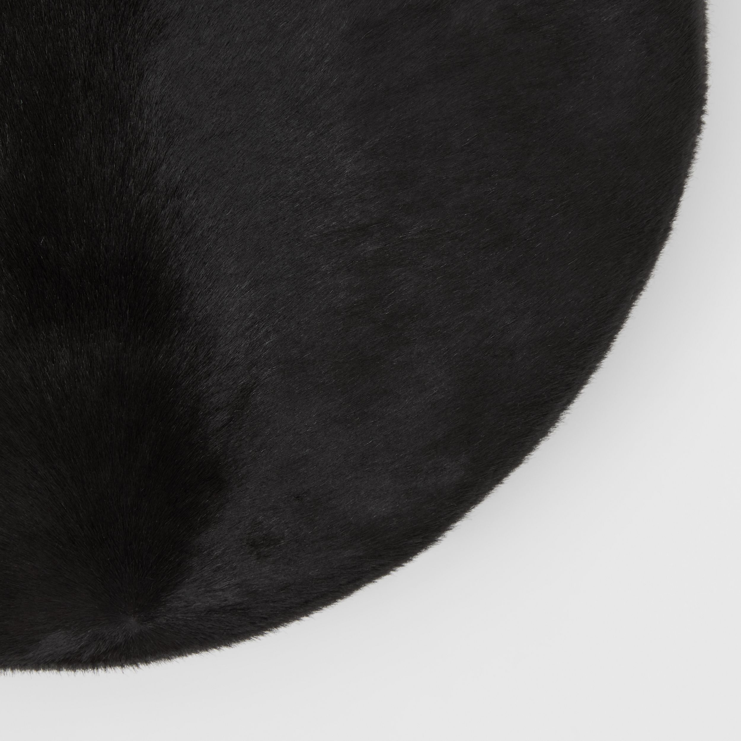 Calf Hair Oversized Beret in Black | Burberry - 2