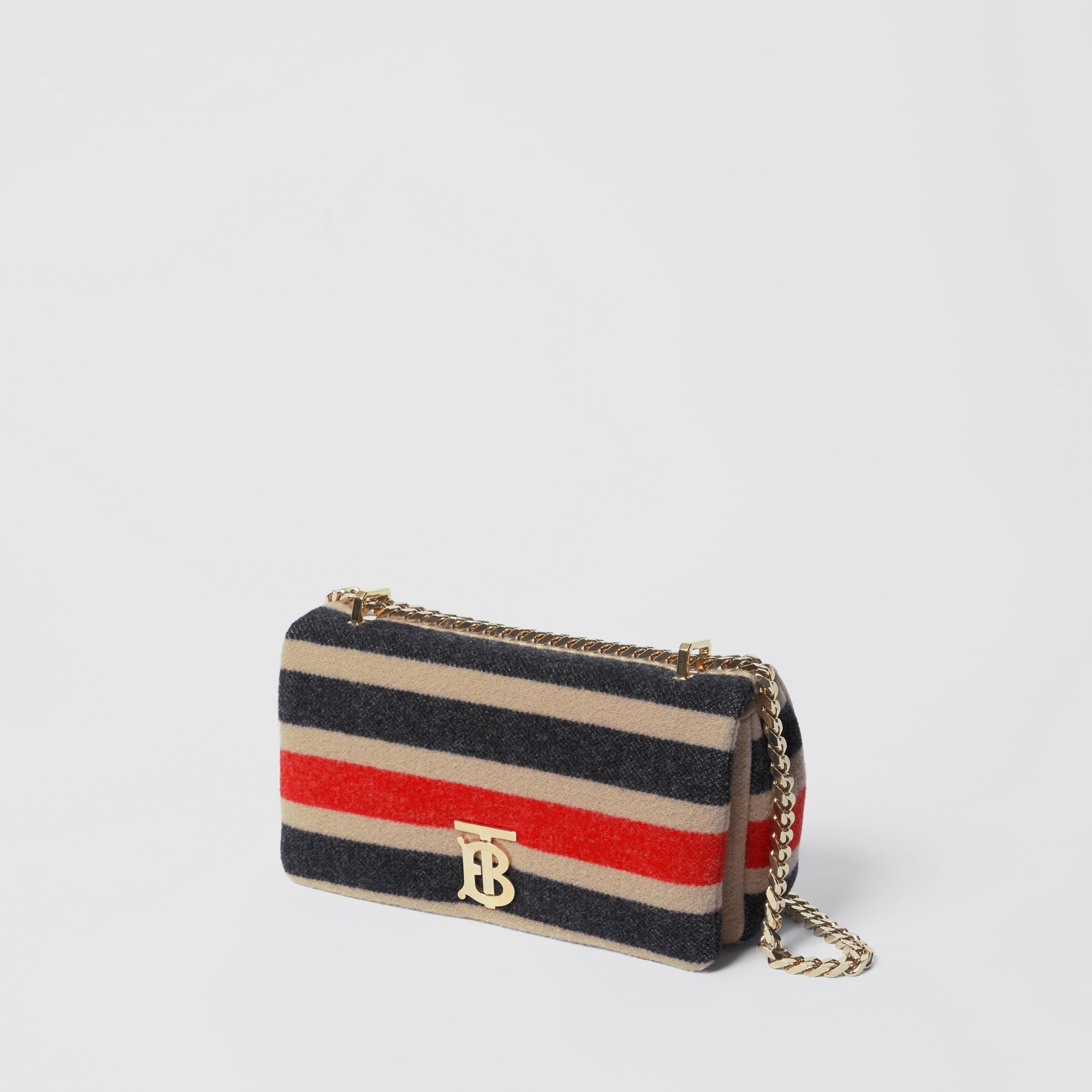 Small Striped Wool Lola Bag in Light Camel - Women | Burberry - 4