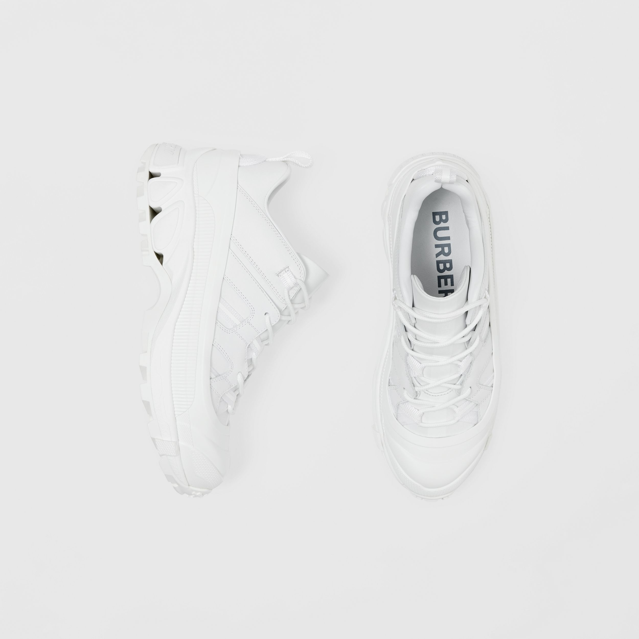 Leather Arthur Sneakers in White - Women | Burberry - 1