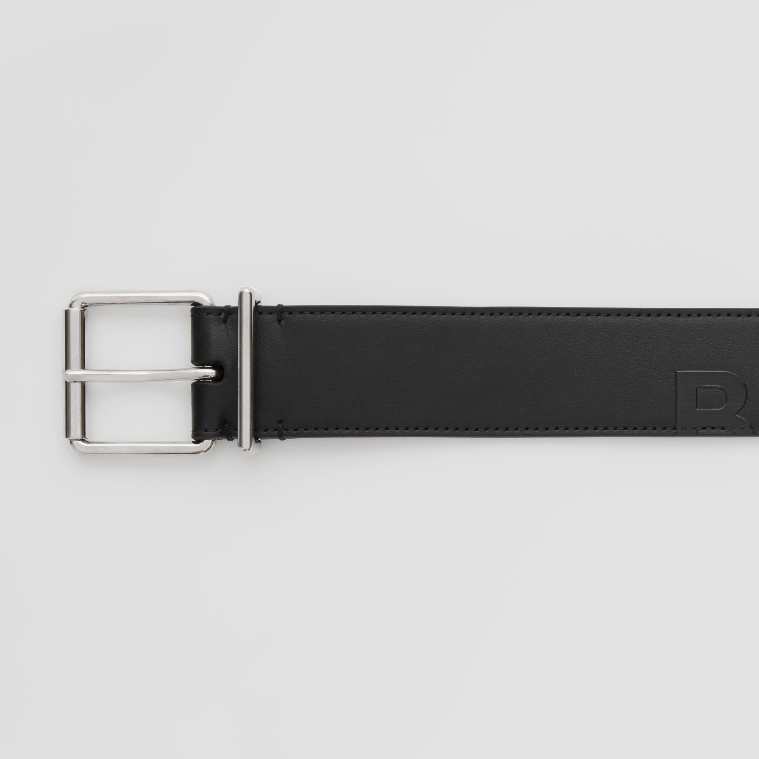 Horseferry Print Leather Belt in Black - Men | Burberry - 2