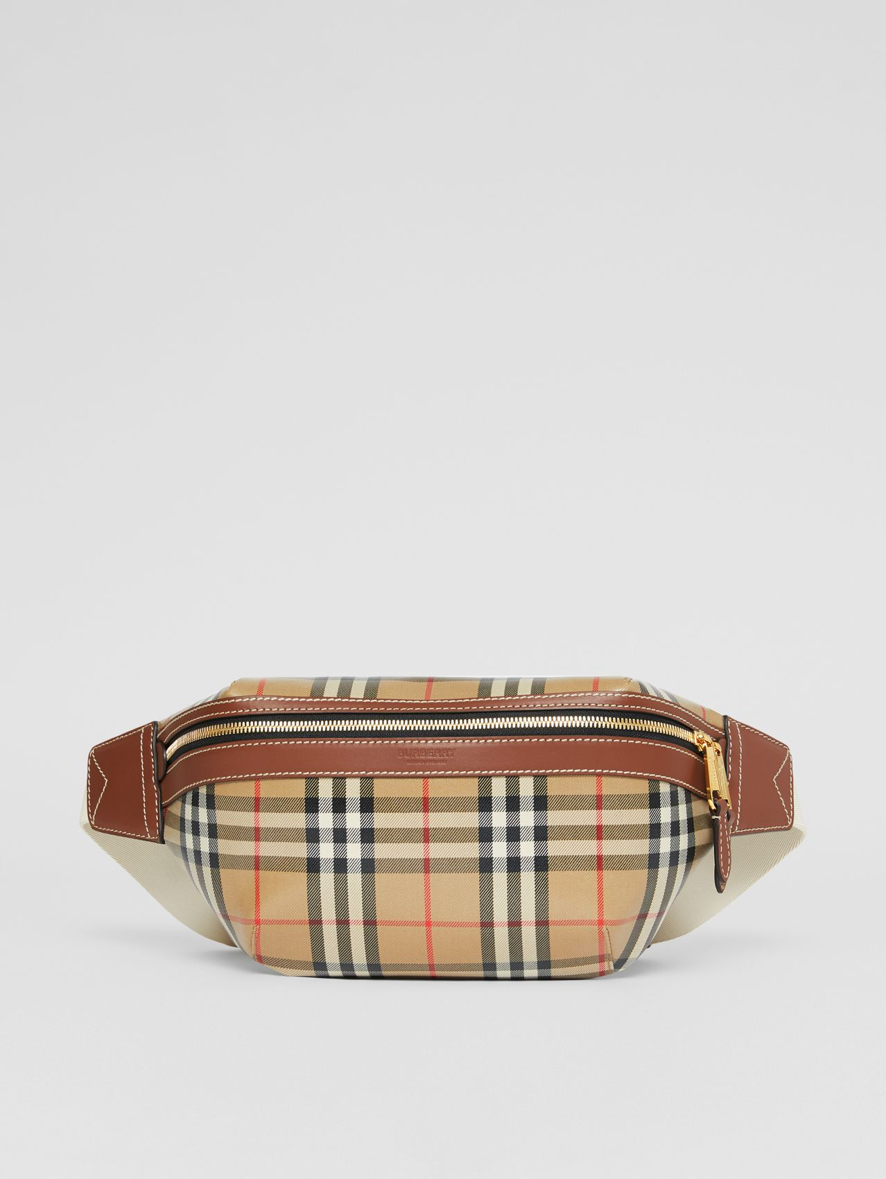 Vintage Check Coated Canvas Sonny Bum Bag in Archive Beige