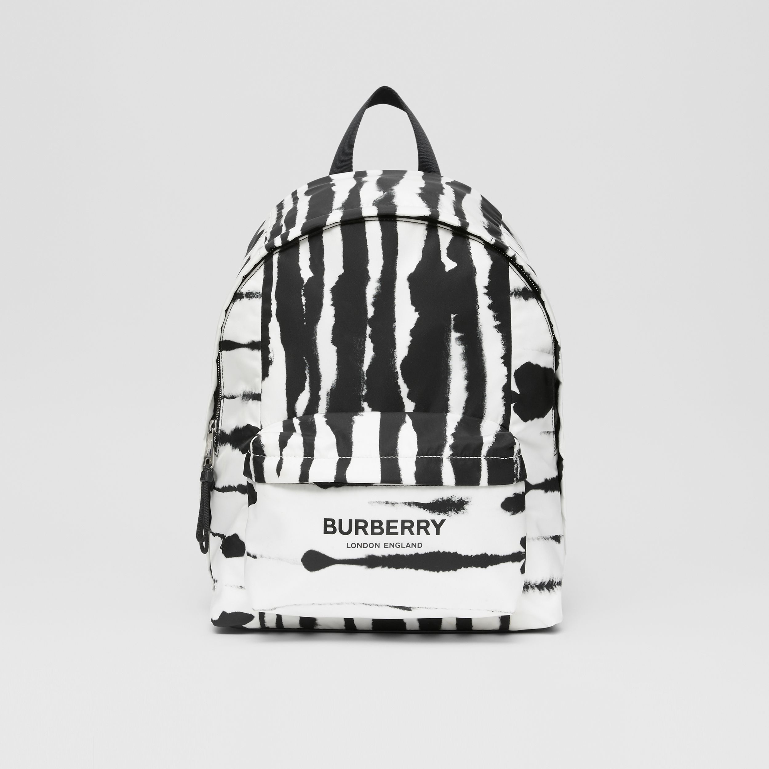 Watercolour Print ECONYL® Backpack in Black/white | Burberry - 1