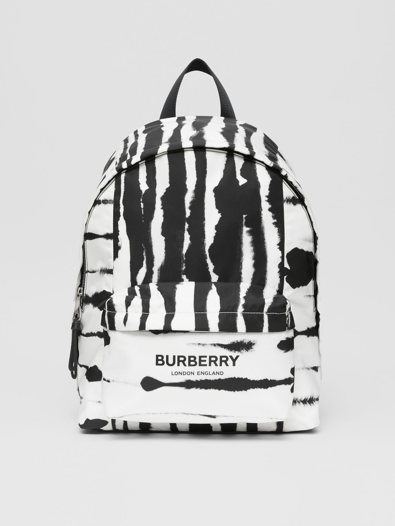 Watercolour Print ECONYL® Backpack in Black/white