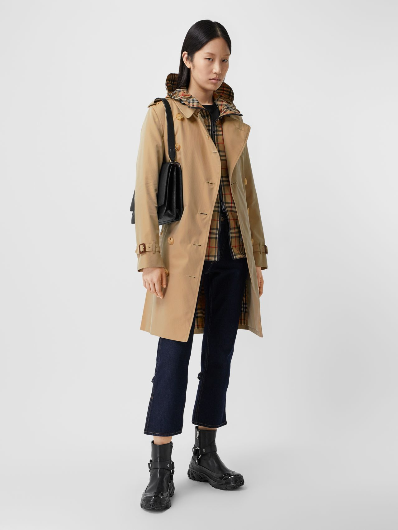 Trench coat Heritage Kensington de longitud media (Miel)