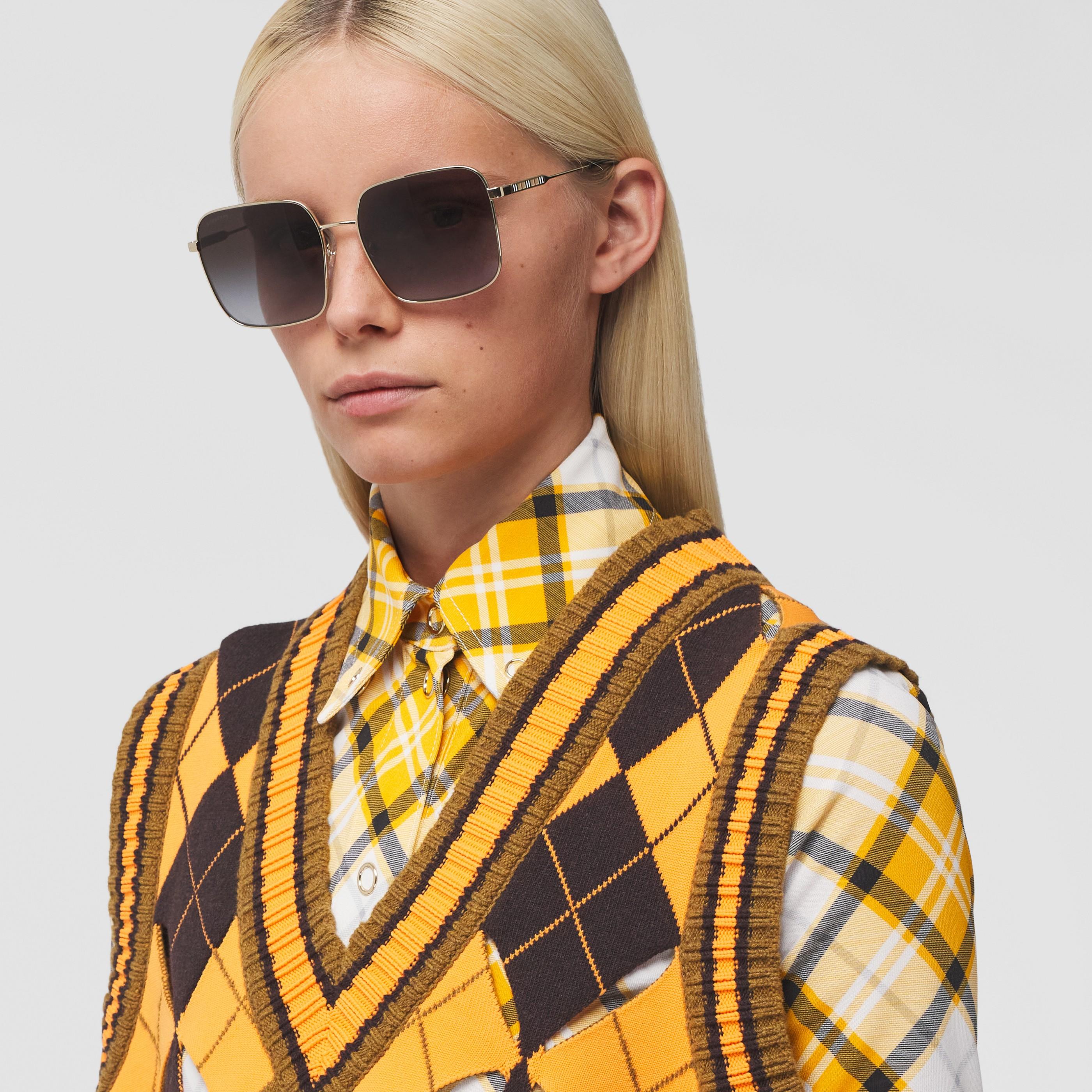 Occhiali da sole oversize con montatura squadrata (Nero) - Donna | Burberry - 3