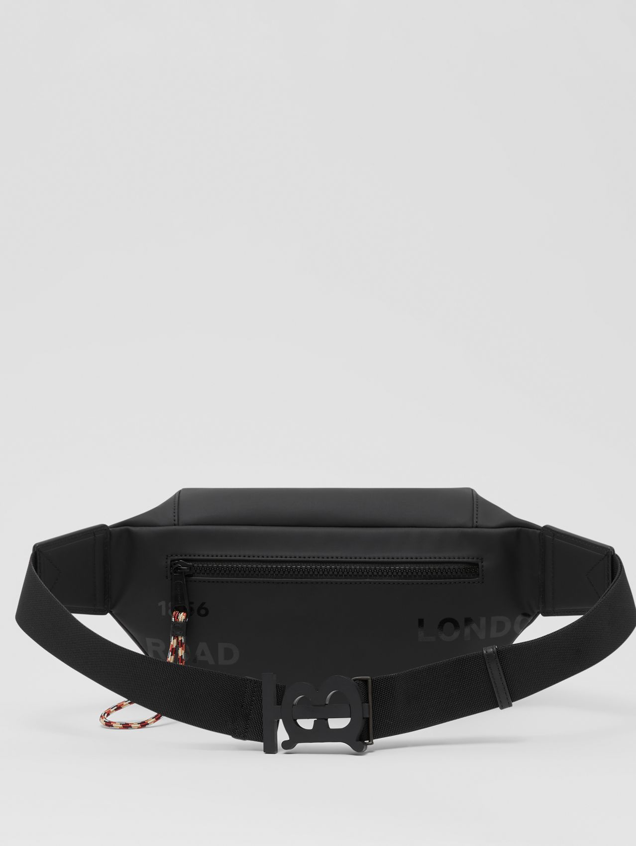 Horseferry Print Coated Canvas Sonny Bum Bag in Black