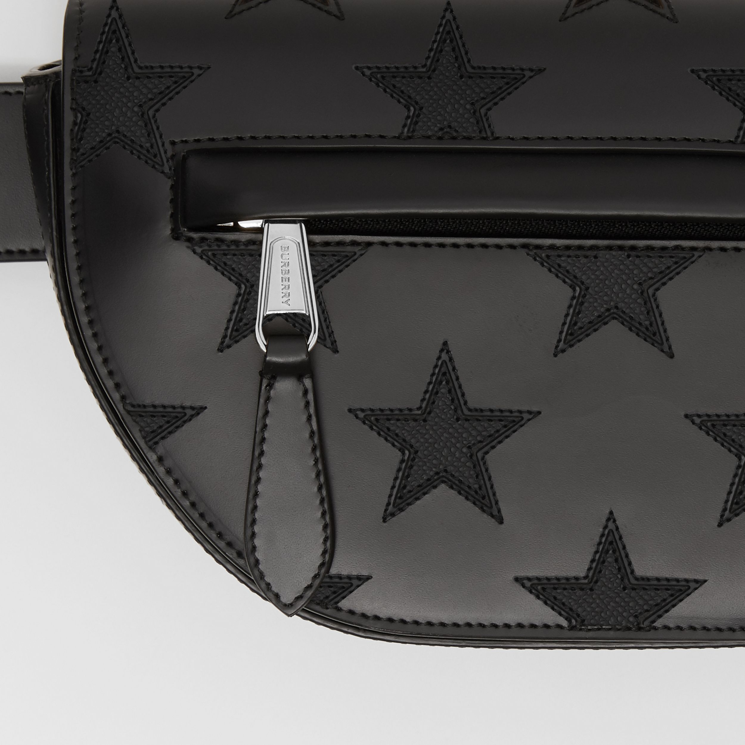 Star Motif Leather Olympia Bum Bag – Online Exclusive in Black | Burberry - 2
