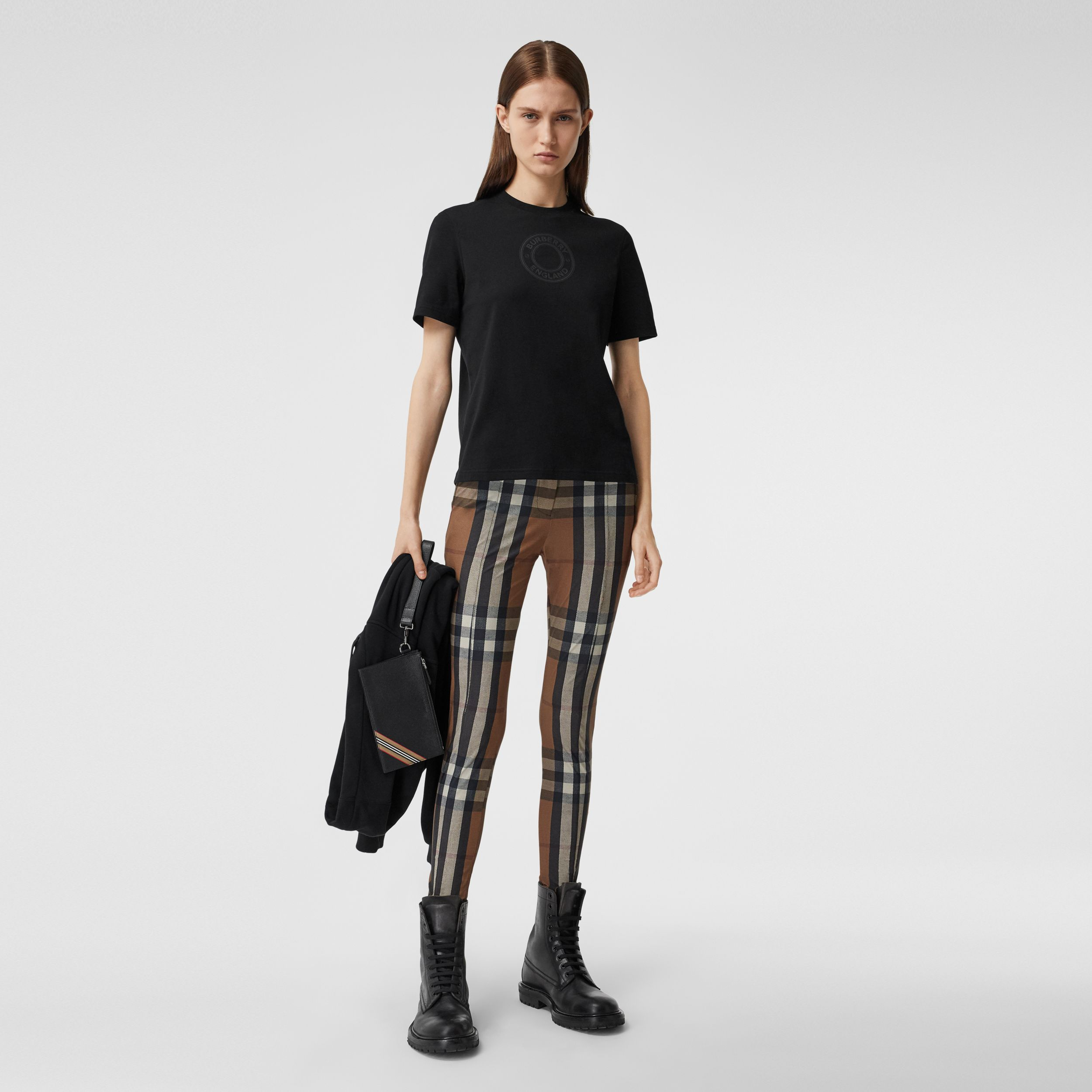 Logo Graphic Cotton T-shirt in Black - Women | Burberry Canada - 1