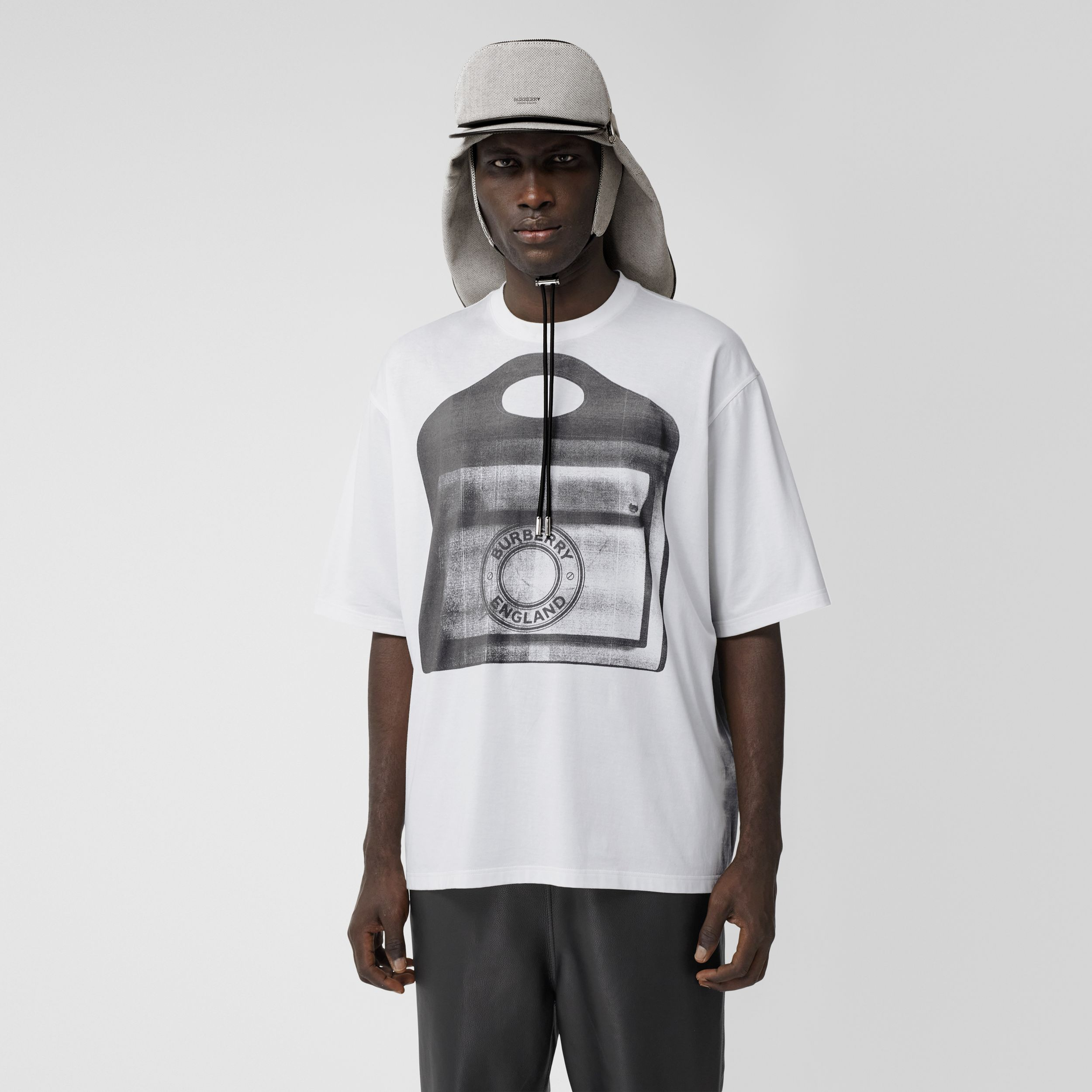 Pocket Bag Print Cotton Jersey T-shirt in White - Men | Burberry Hong Kong S.A.R. - 1