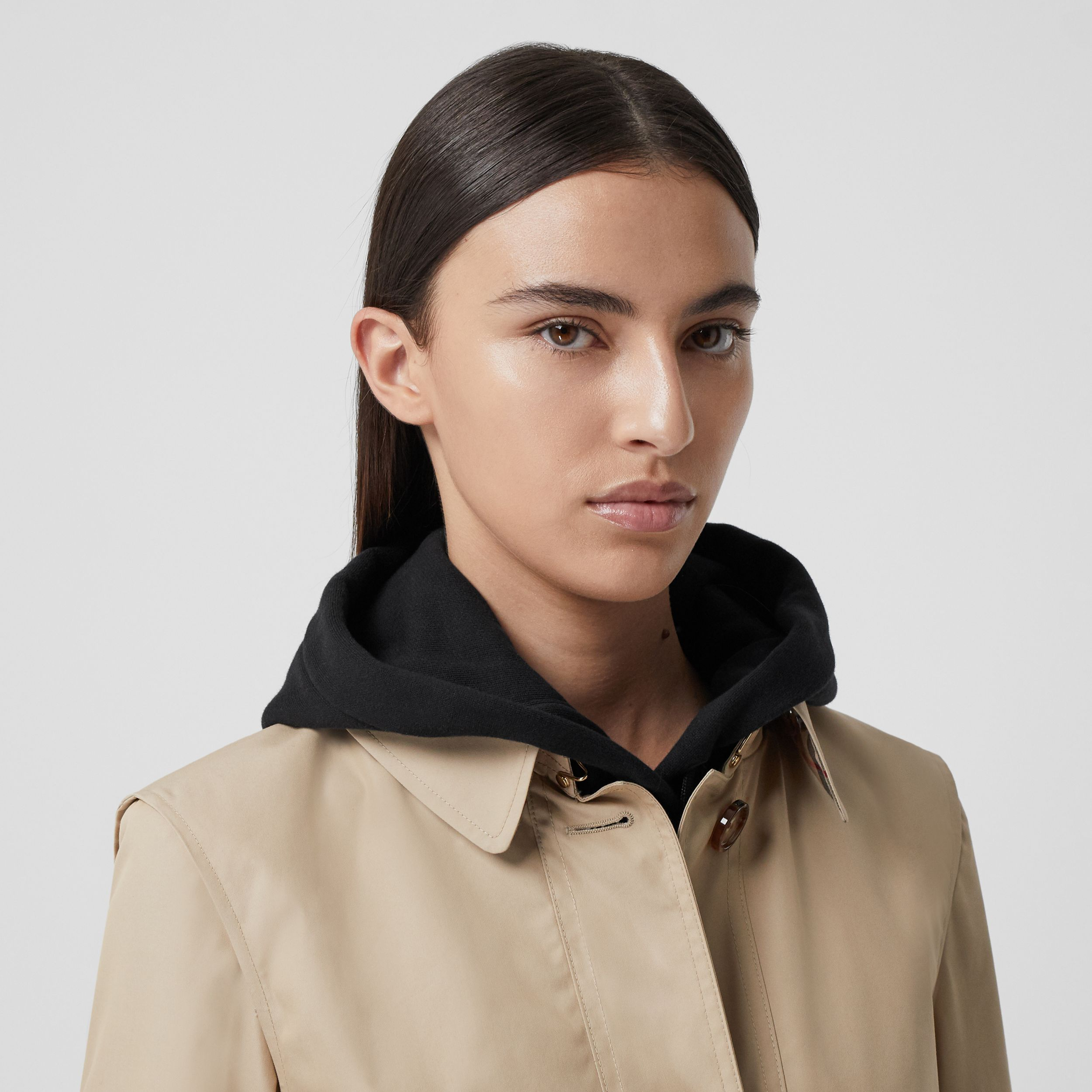 Technical Cotton Gabardine Trench Coat in Soft Fawn - Women | Burberry - 2