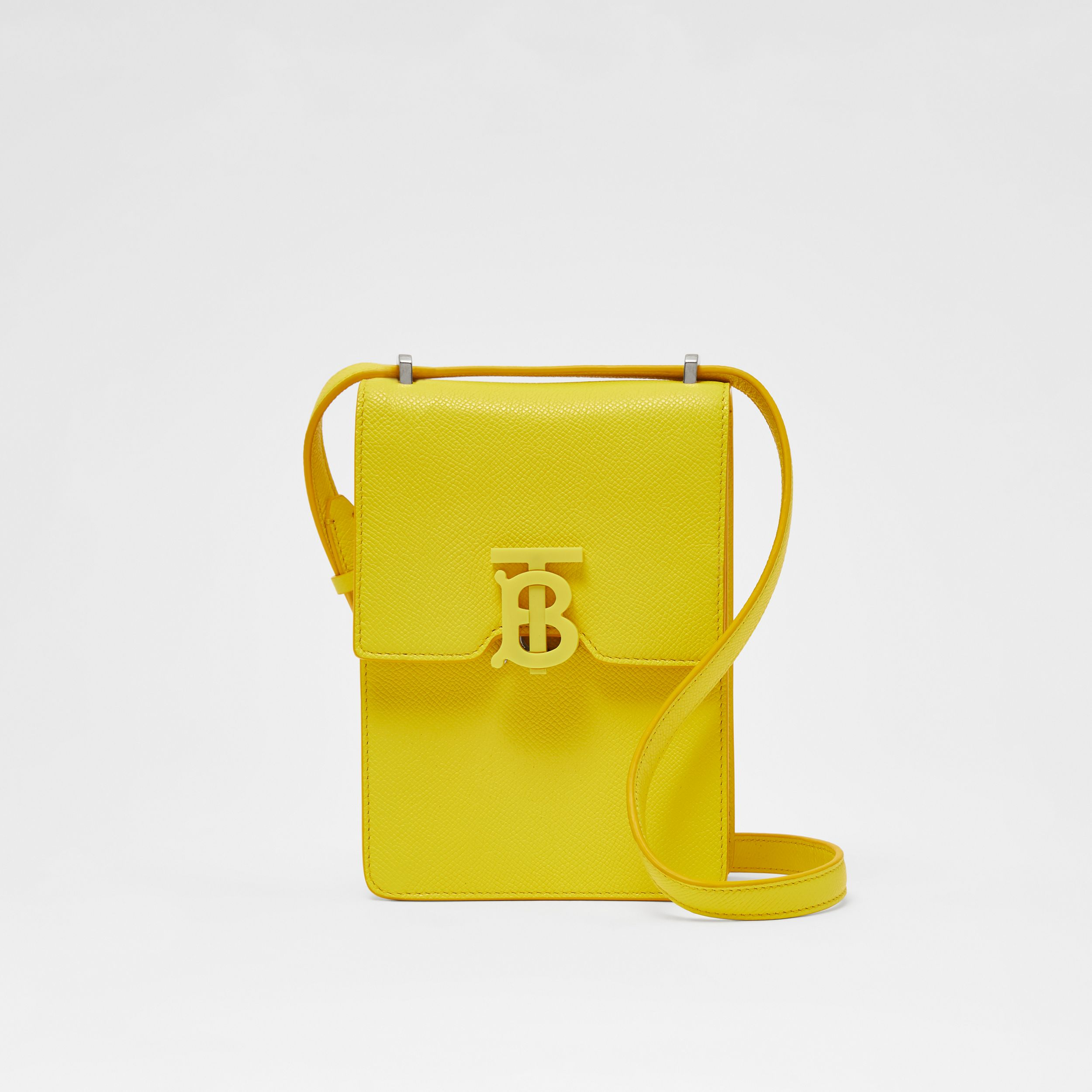 Grainy Leather Robin Bag in Marigold Yellow | Burberry - 1