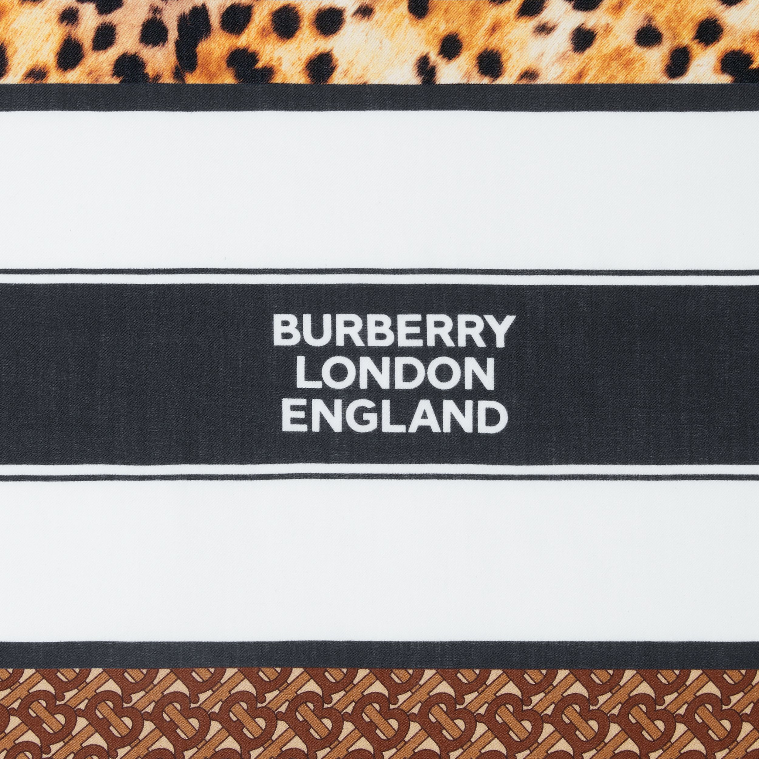 Montage Print Cashmere Large Square Scarf in Nutmeg | Burberry - 2