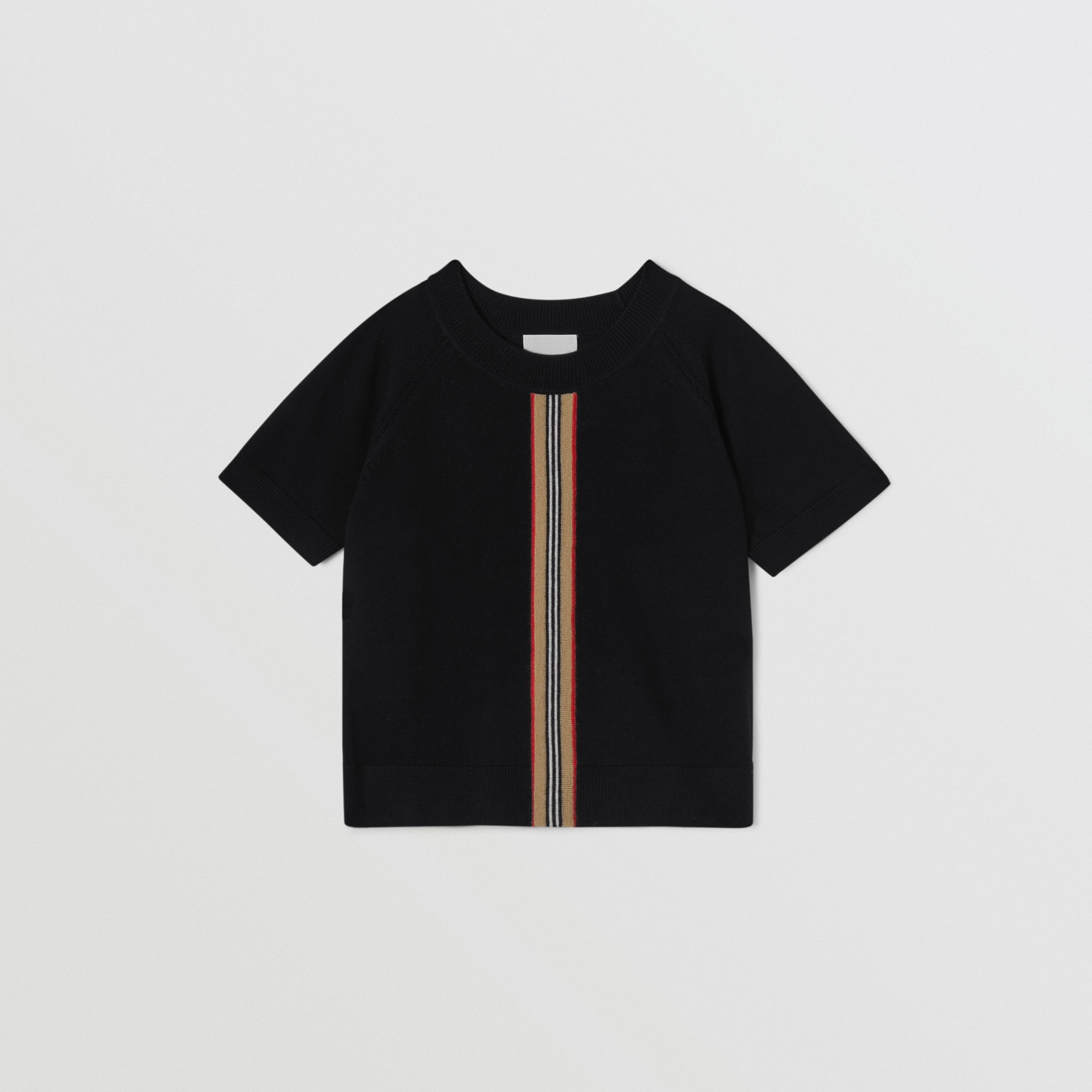 Icon Stripe Trim Merino Wool Two-piece Set | Burberry - 3