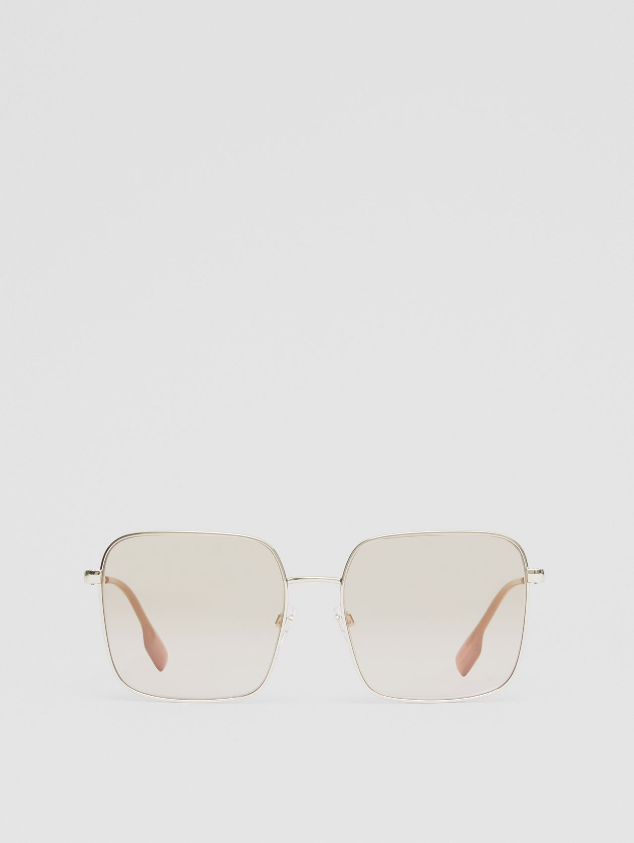 Oversized Square Frame Sunglasses in Nude Pink