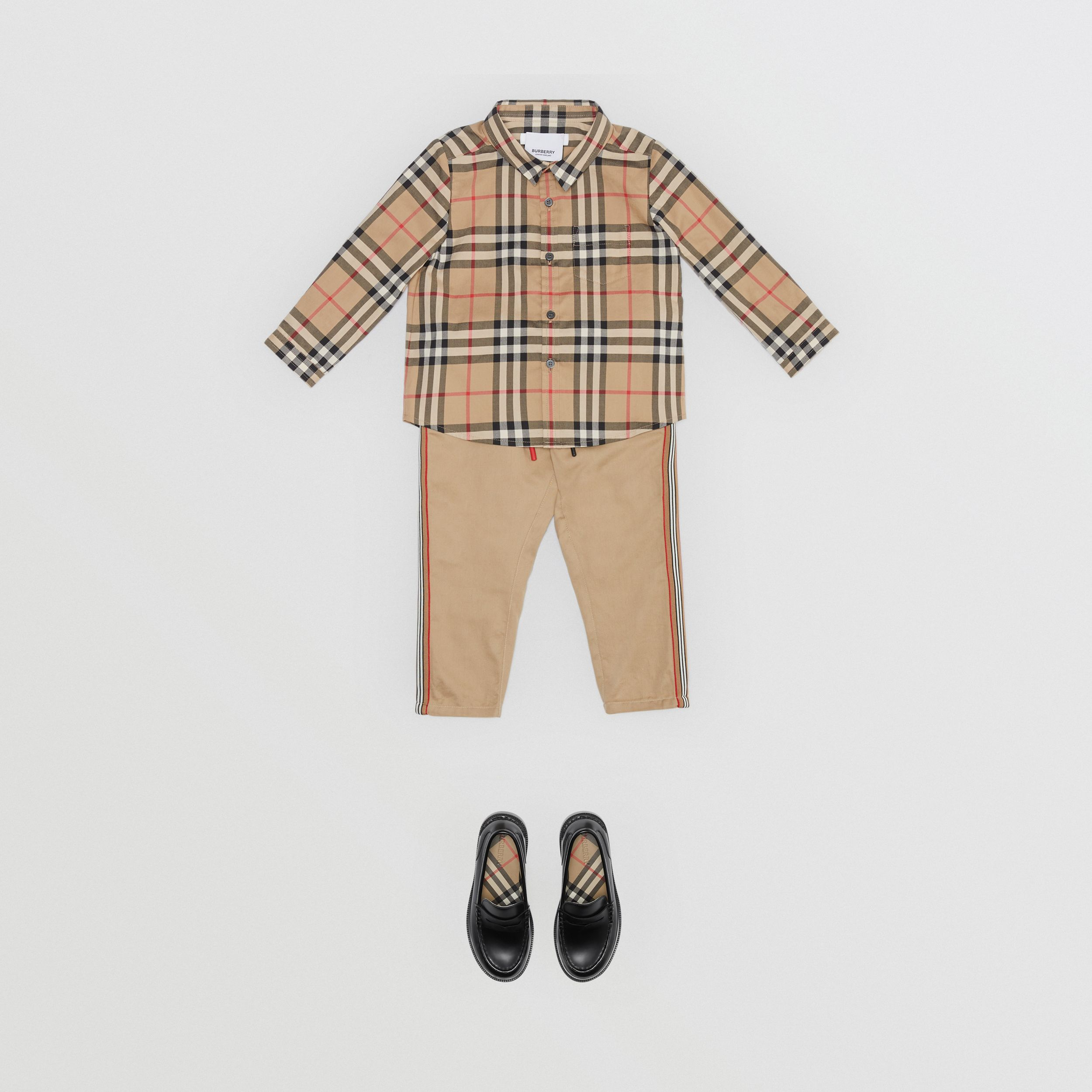 Vintage Check Cotton Shirt in Archive Beige - Children | Burberry Canada - 3